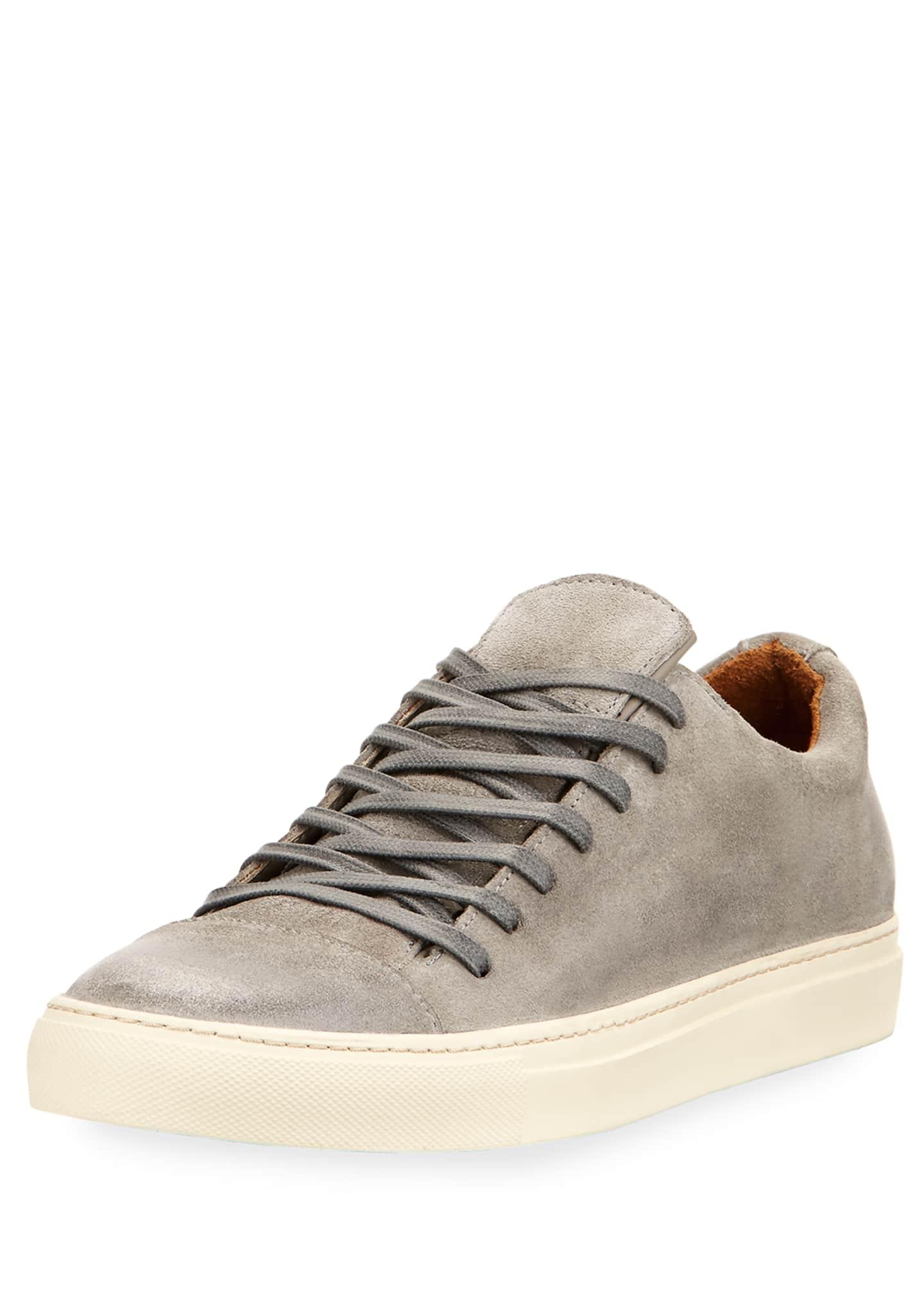 John Varvatos Men's 315 Reed Suede Low-Top Sneakers,