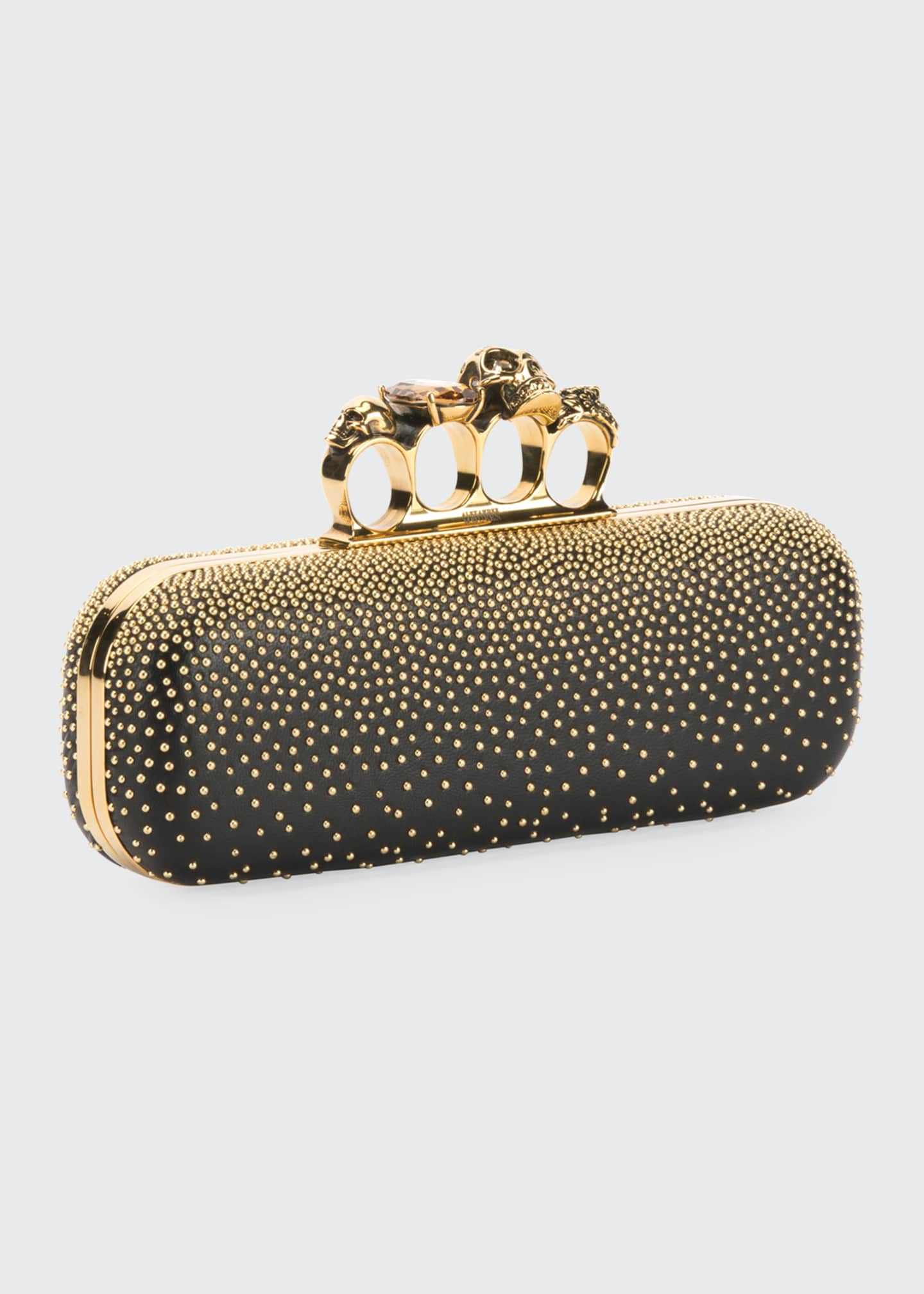 Image 2 of 5: Studded Four Ring Clutch Bag