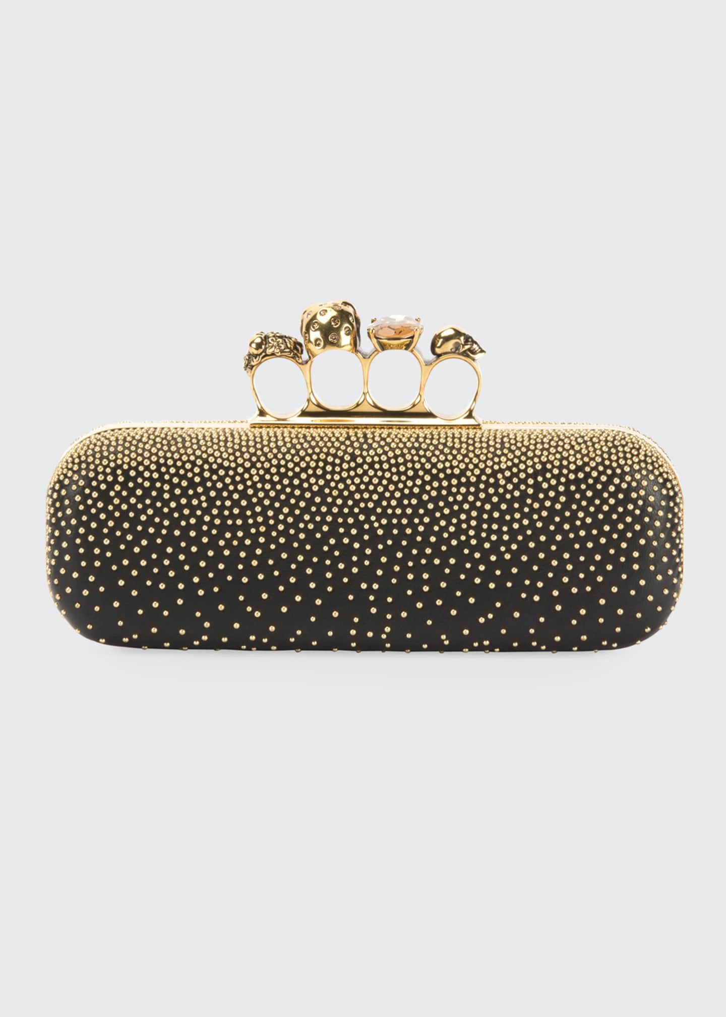 Image 3 of 5: Studded Four Ring Clutch Bag