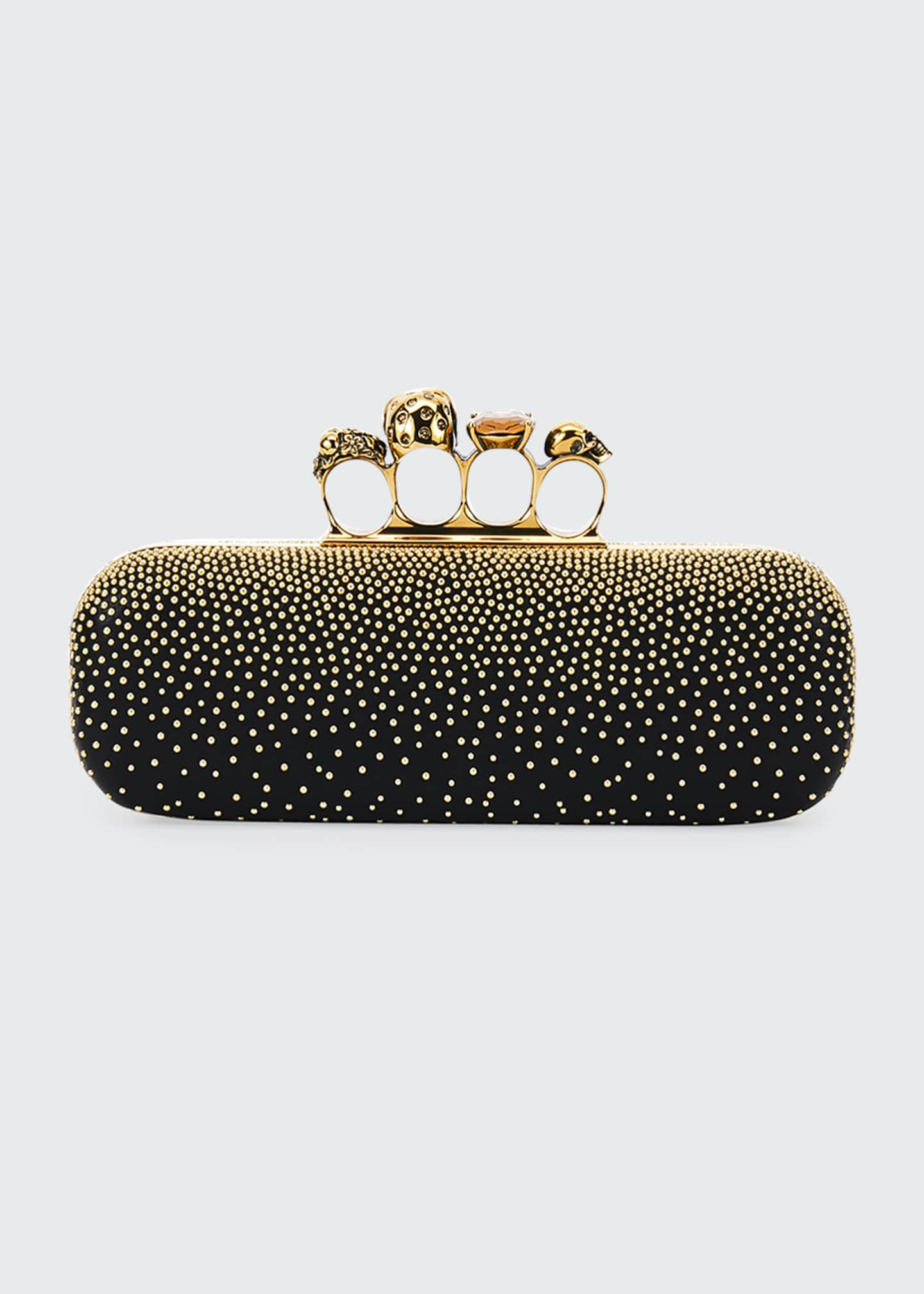 Image 4 of 5: Studded Four Ring Clutch Bag
