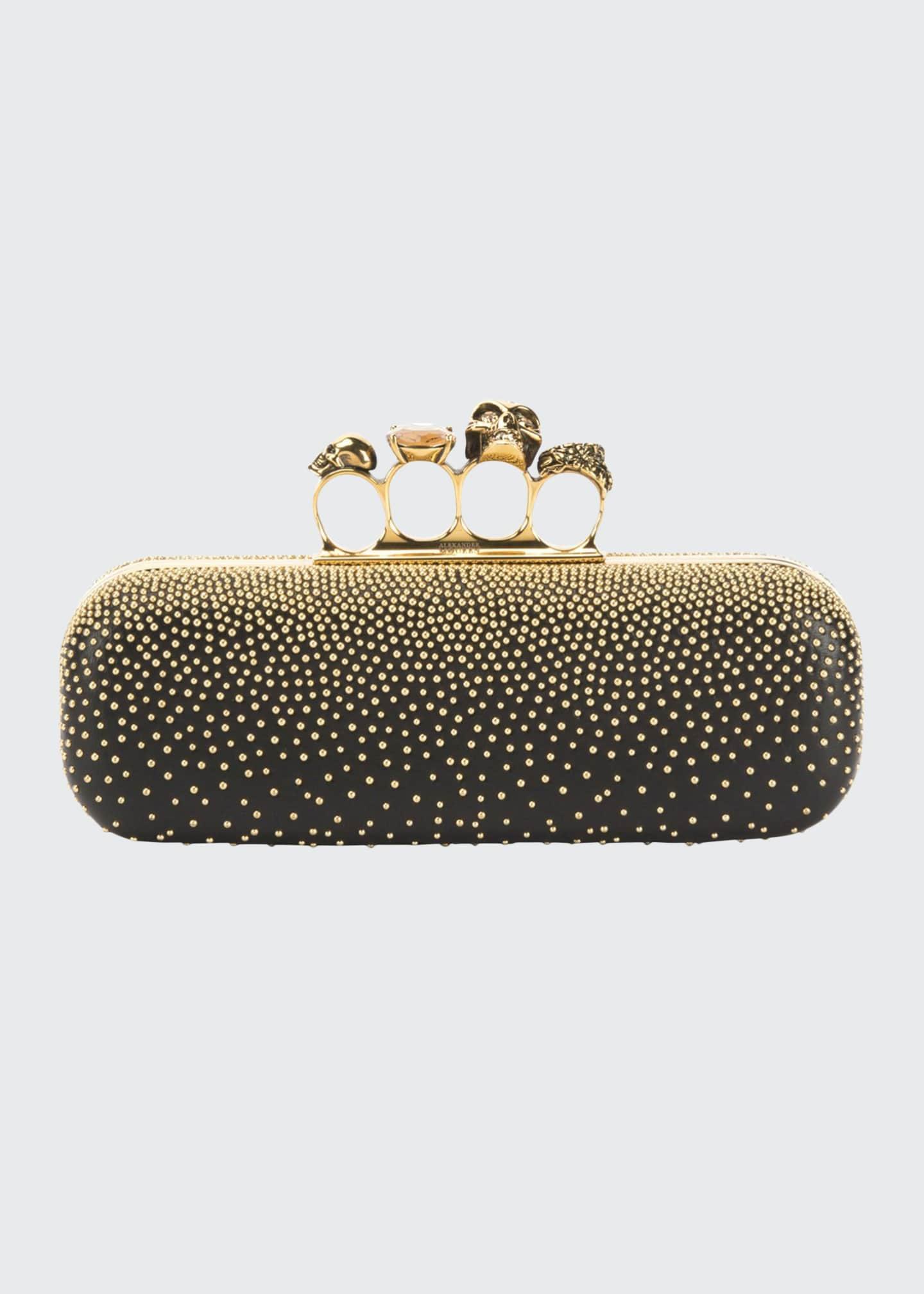 Image 1 of 5: Studded Four Ring Clutch Bag