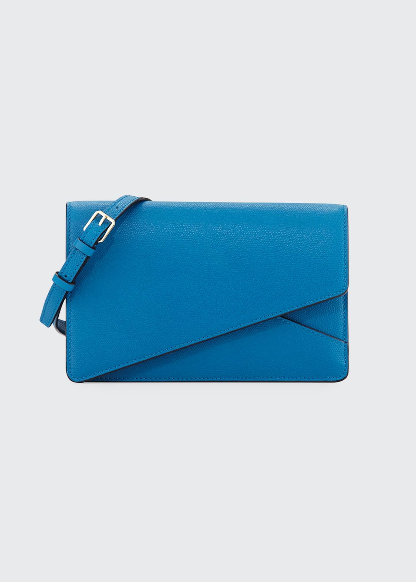 Valextra Twist Leather Clutch Bag