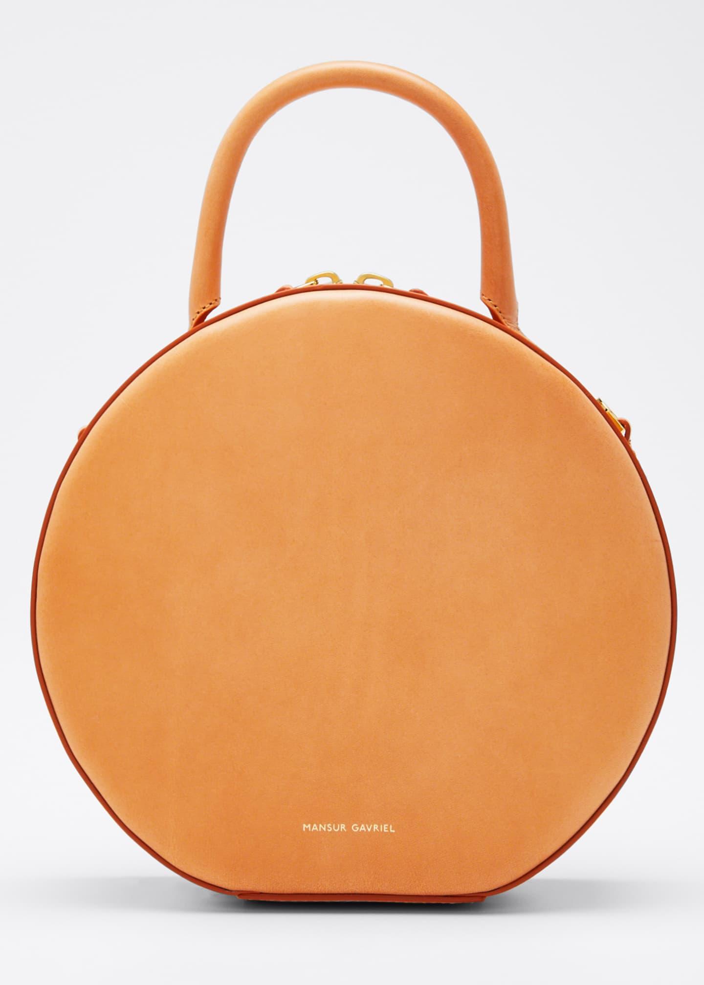 Mansur Gavriel Circle Vegetable-Tanned Leather Crossbody Bag