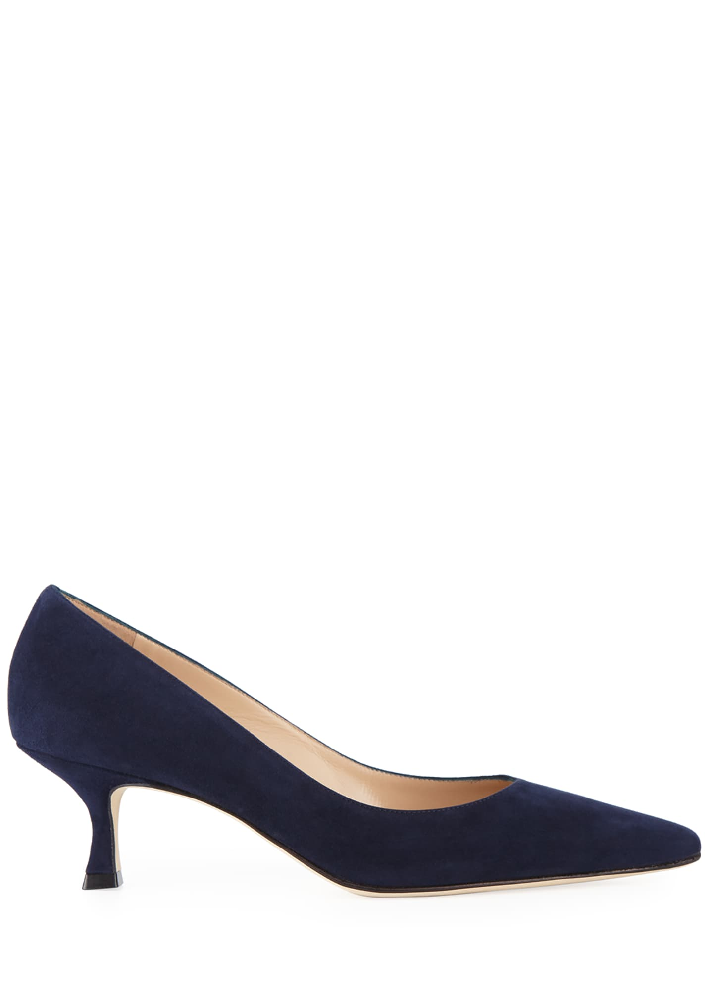 Image 2 of 3: Srila Suede Low-Heel Pumps