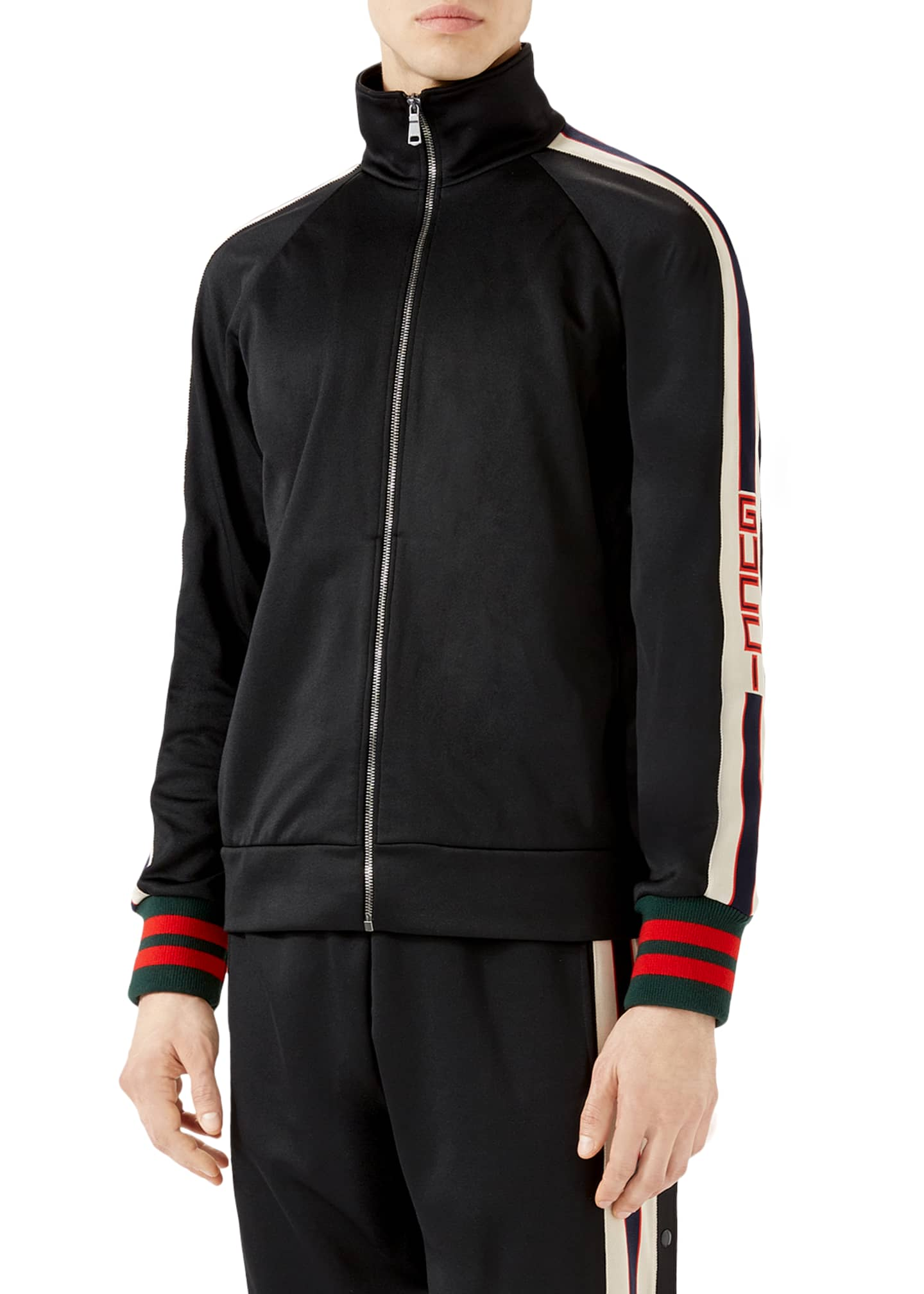 Gucci Logo Track Jacket, Black