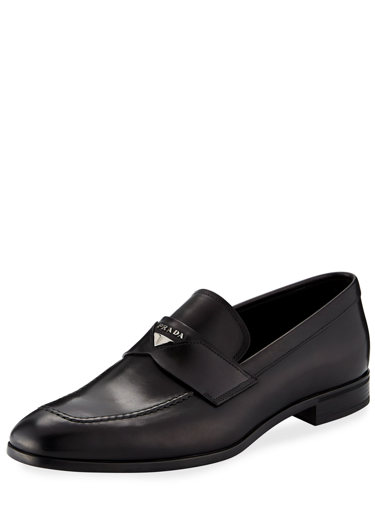 Prada Leather Penny Loafer
