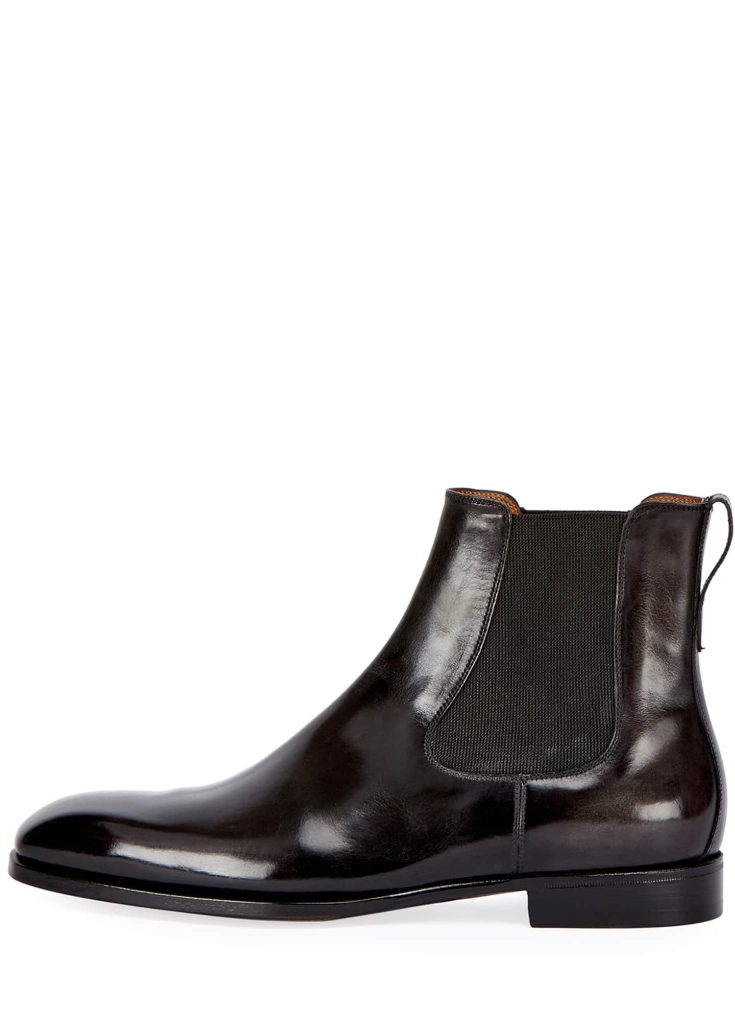 Image 2 of 3: Leather Chelsea Boot, Gray