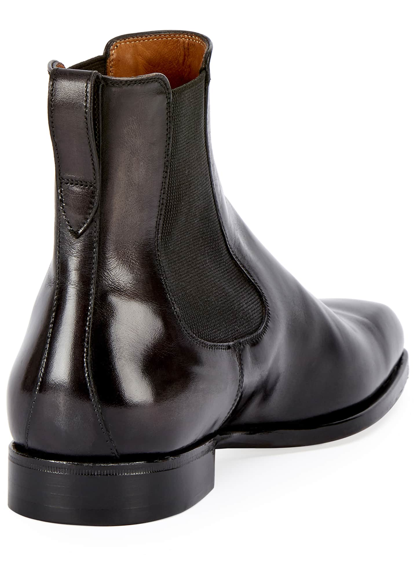 Image 3 of 3: Leather Chelsea Boot, Gray