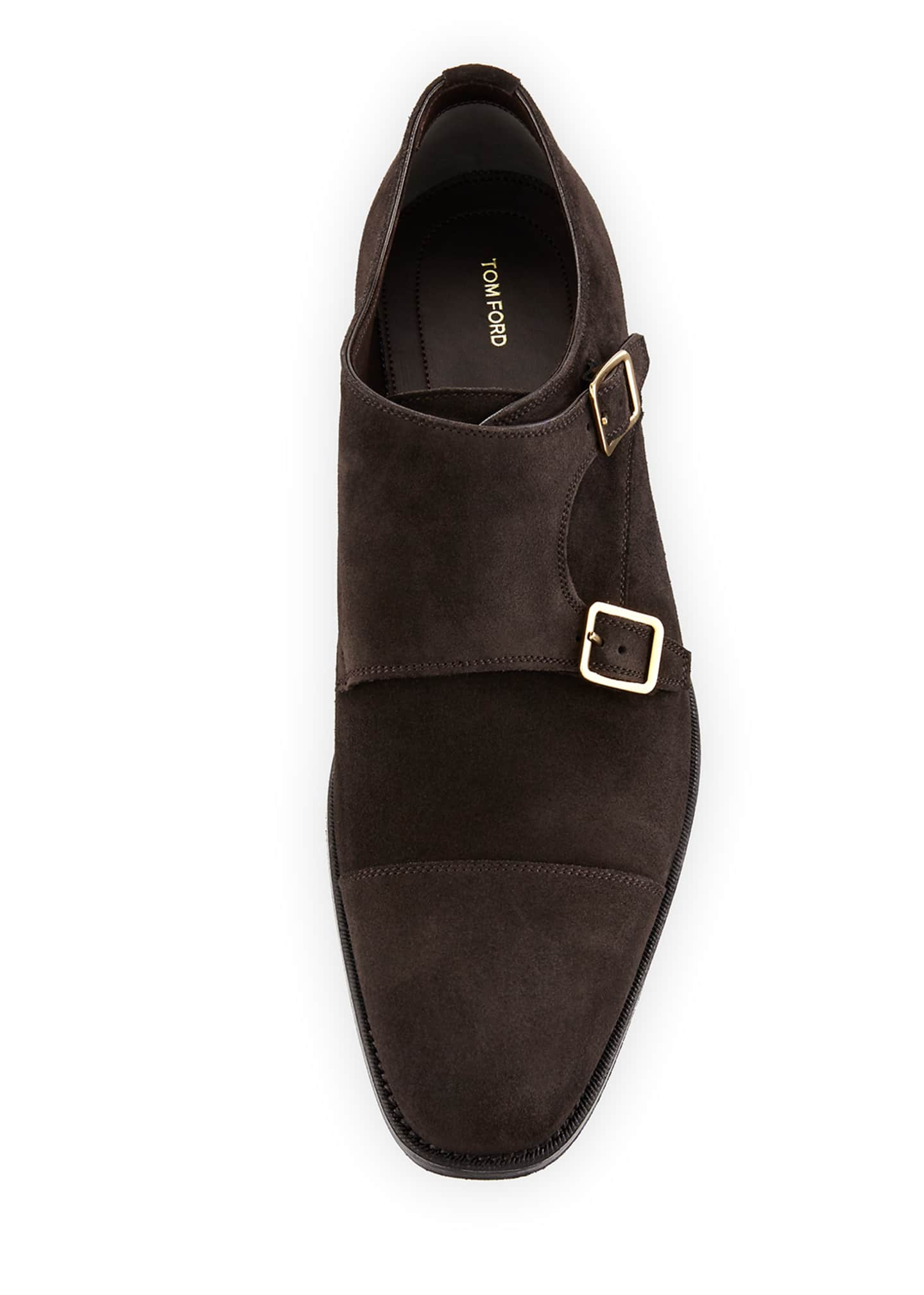 Image 2 of 4: Wessex Suede Double-Monk Shoe