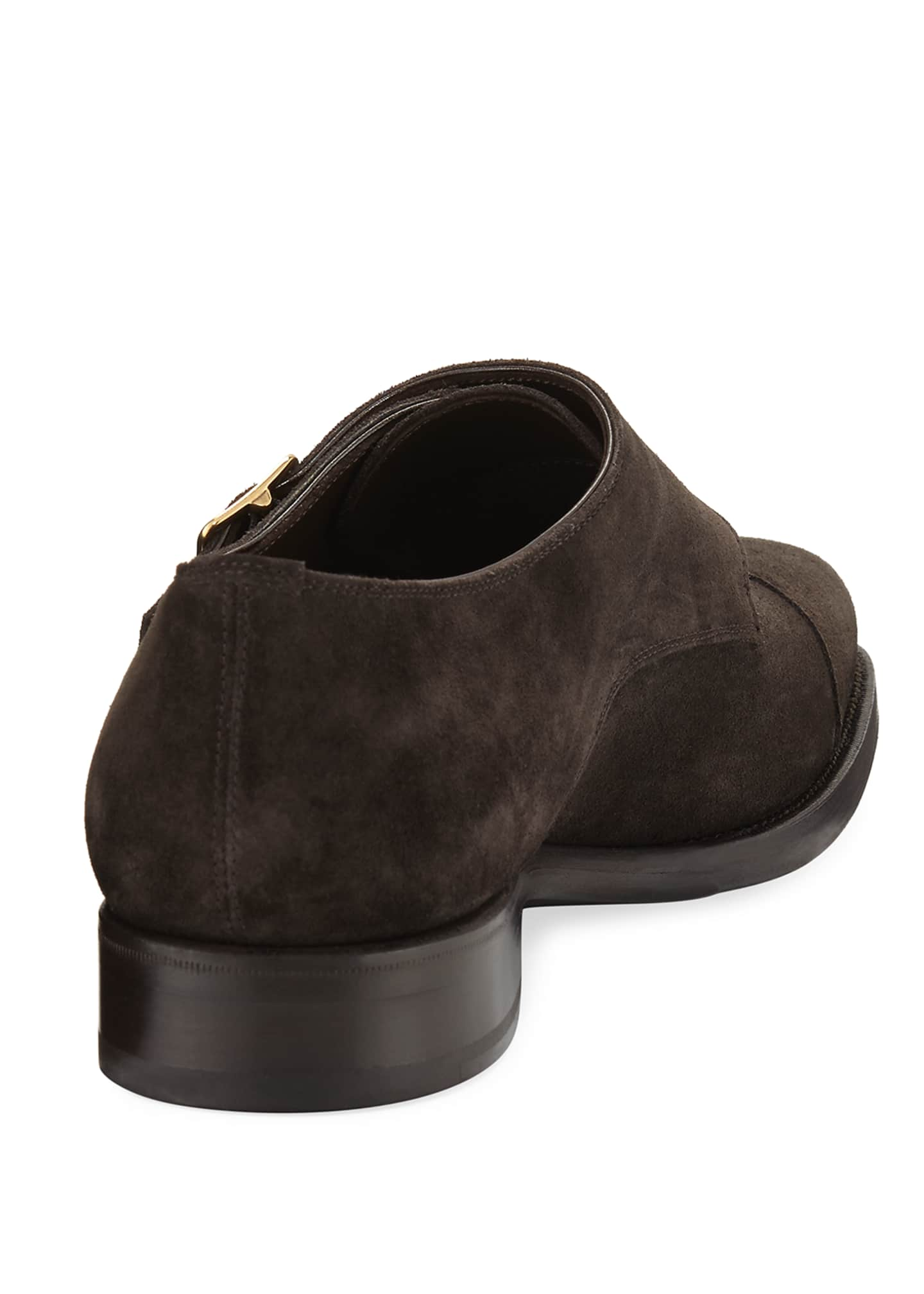 Image 4 of 4: Wessex Suede Double-Monk Shoe