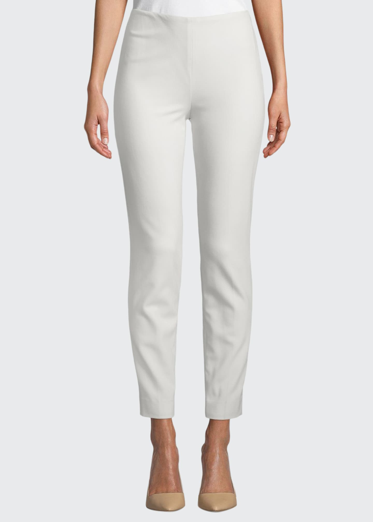 Ralph Lauren Collection Annie Straight-Leg Stretch-Wool Pants