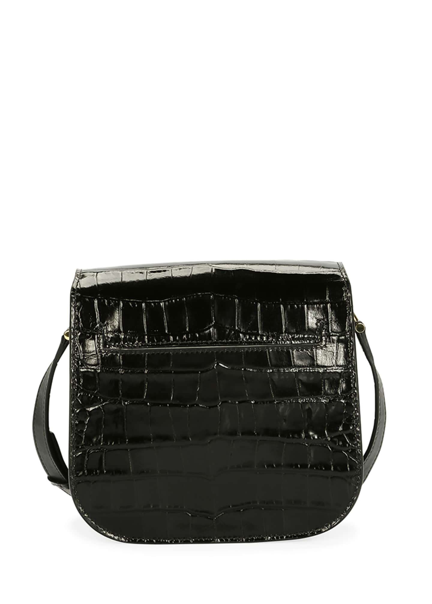 Image 3 of 3: Tara Small T Clasp Alligator Shoulder Bag