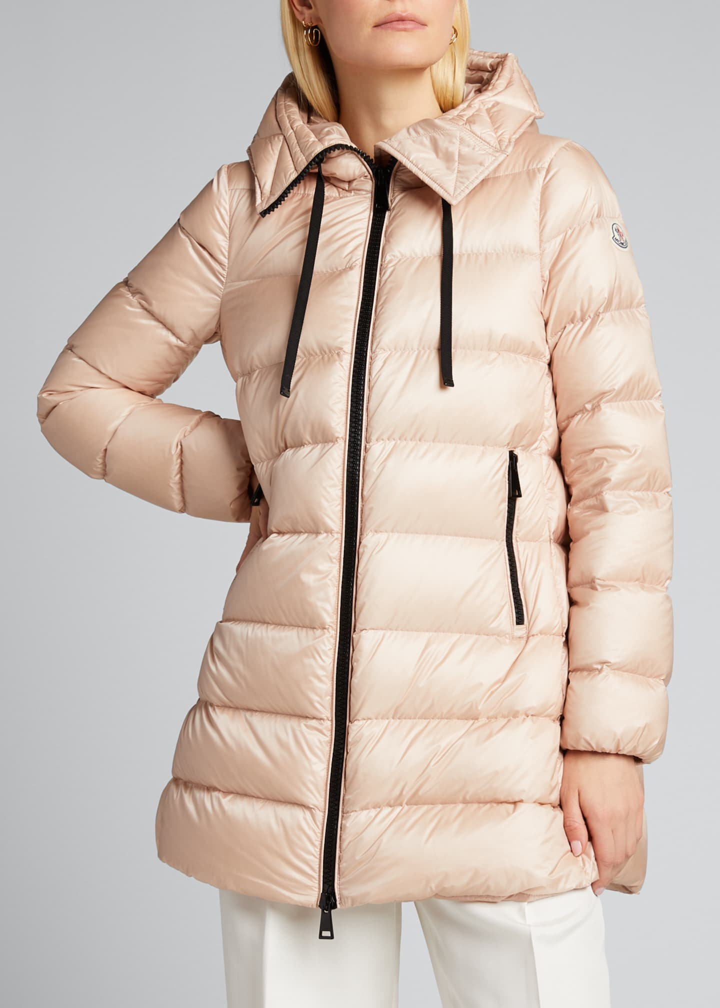Image 3 of 3: Suyen Down Quilted Nylon Hooded Parka