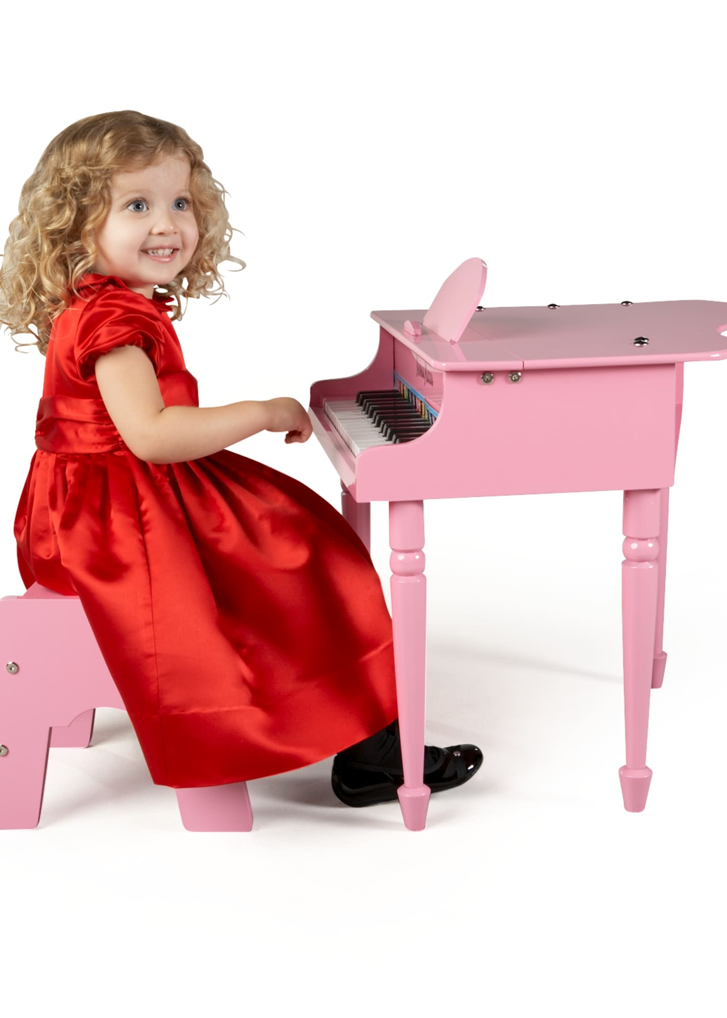 Image 2 of 2: 30-Key Mini Grand Piano, Pink