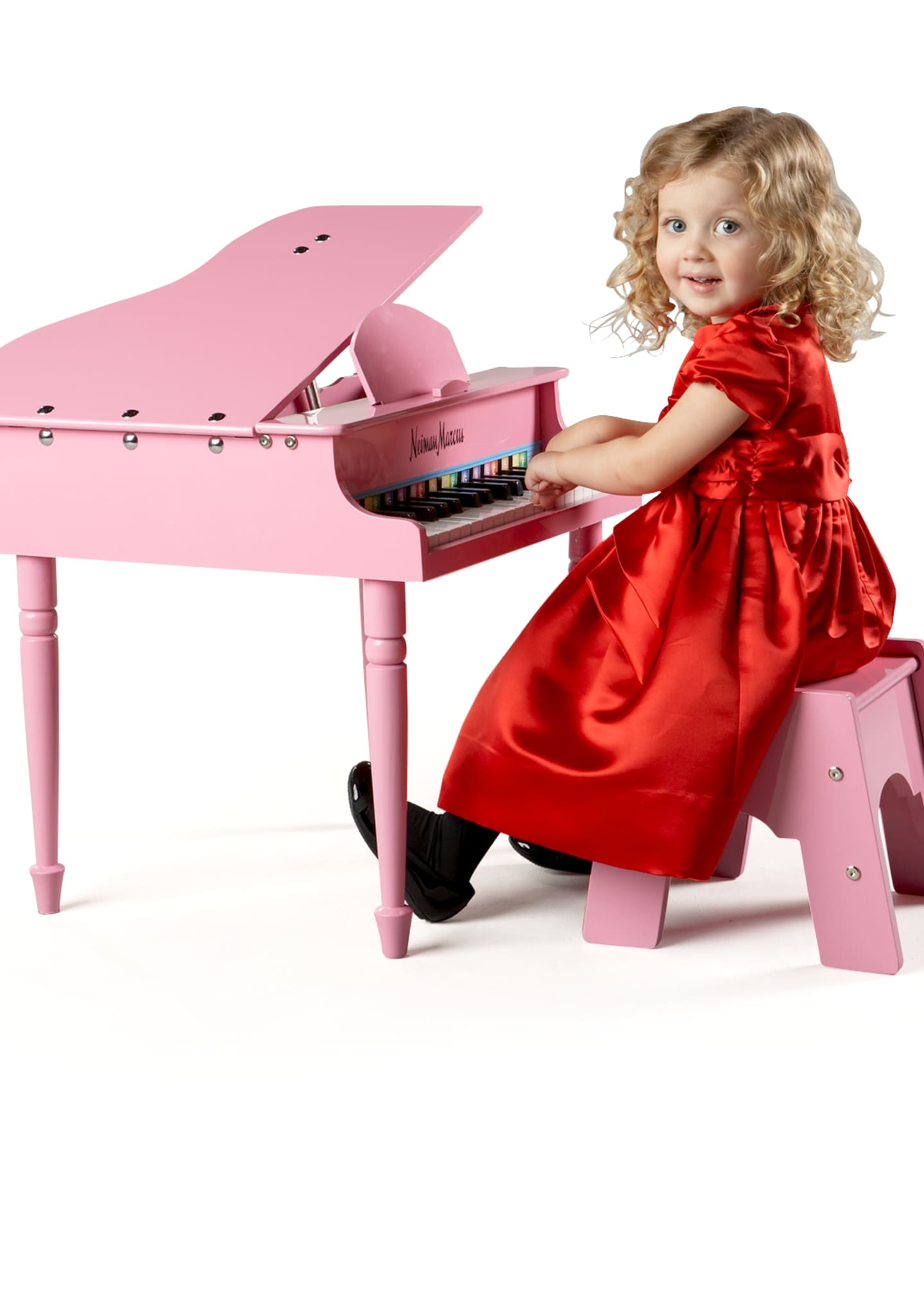 Image 1 of 2: 30-Key Mini Grand Piano, Pink