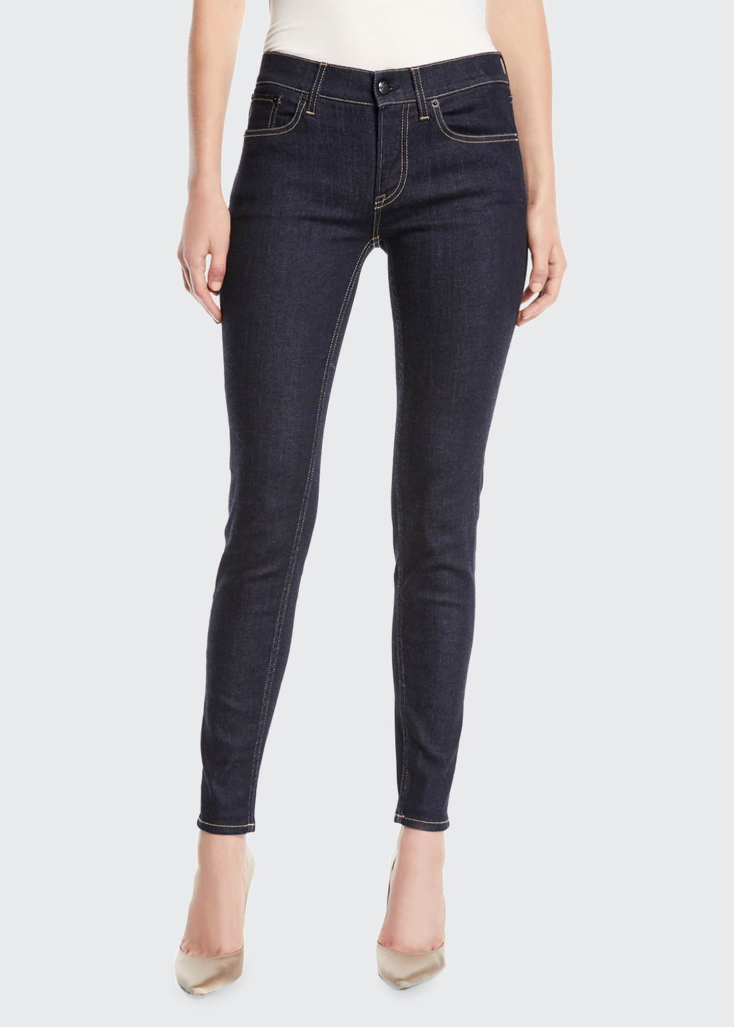 Image 3 of 3: 400 Mid-Rise Five-Pocket Skinny Jeans