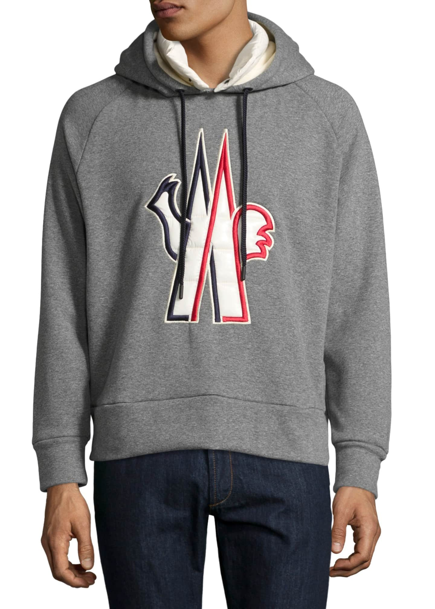 Moncler Grenoble Logo-Embroidered Pullover Hoodie