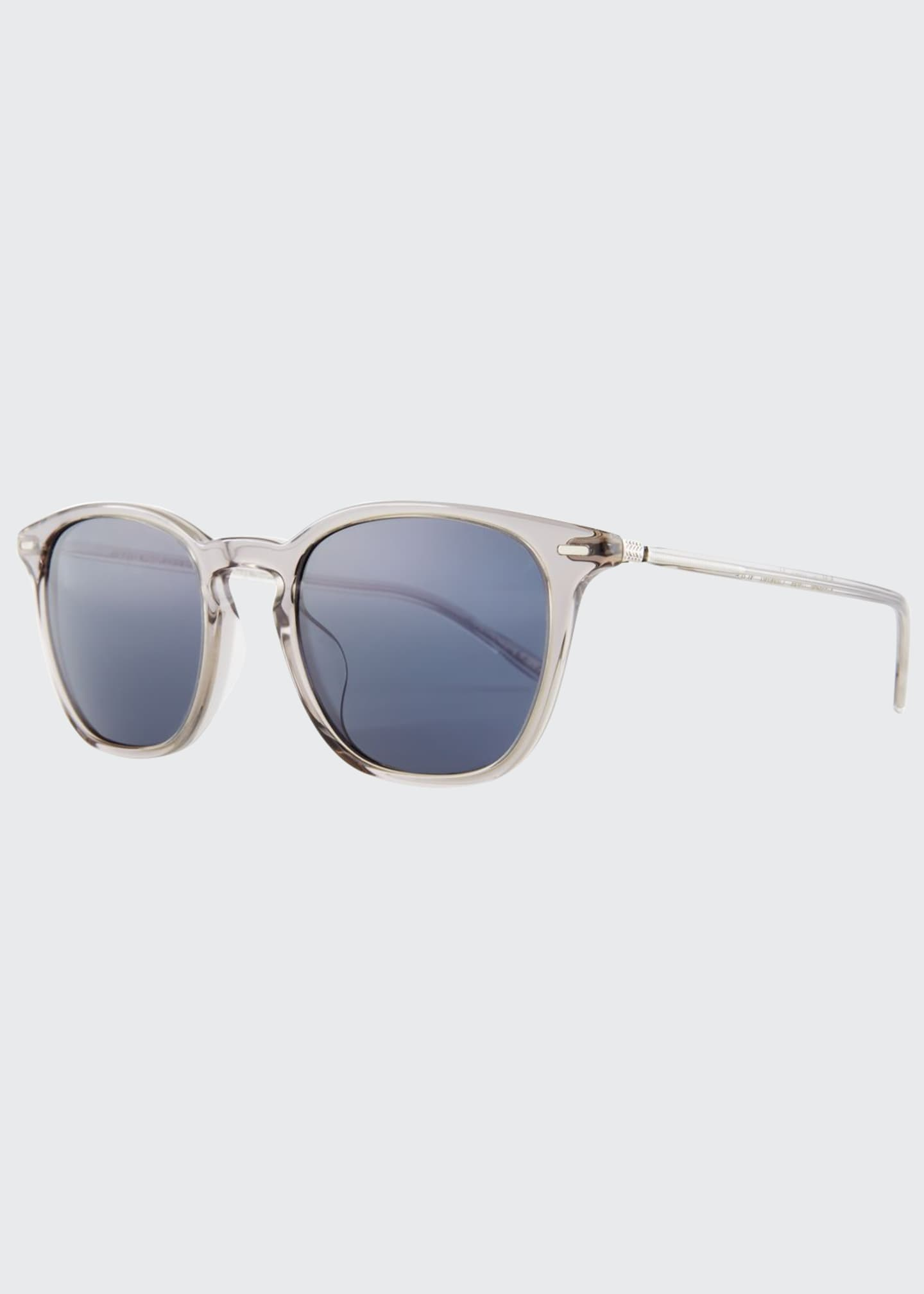 Oliver Peoples Heaton Square Acetate Sunglasses, Gray/Blue