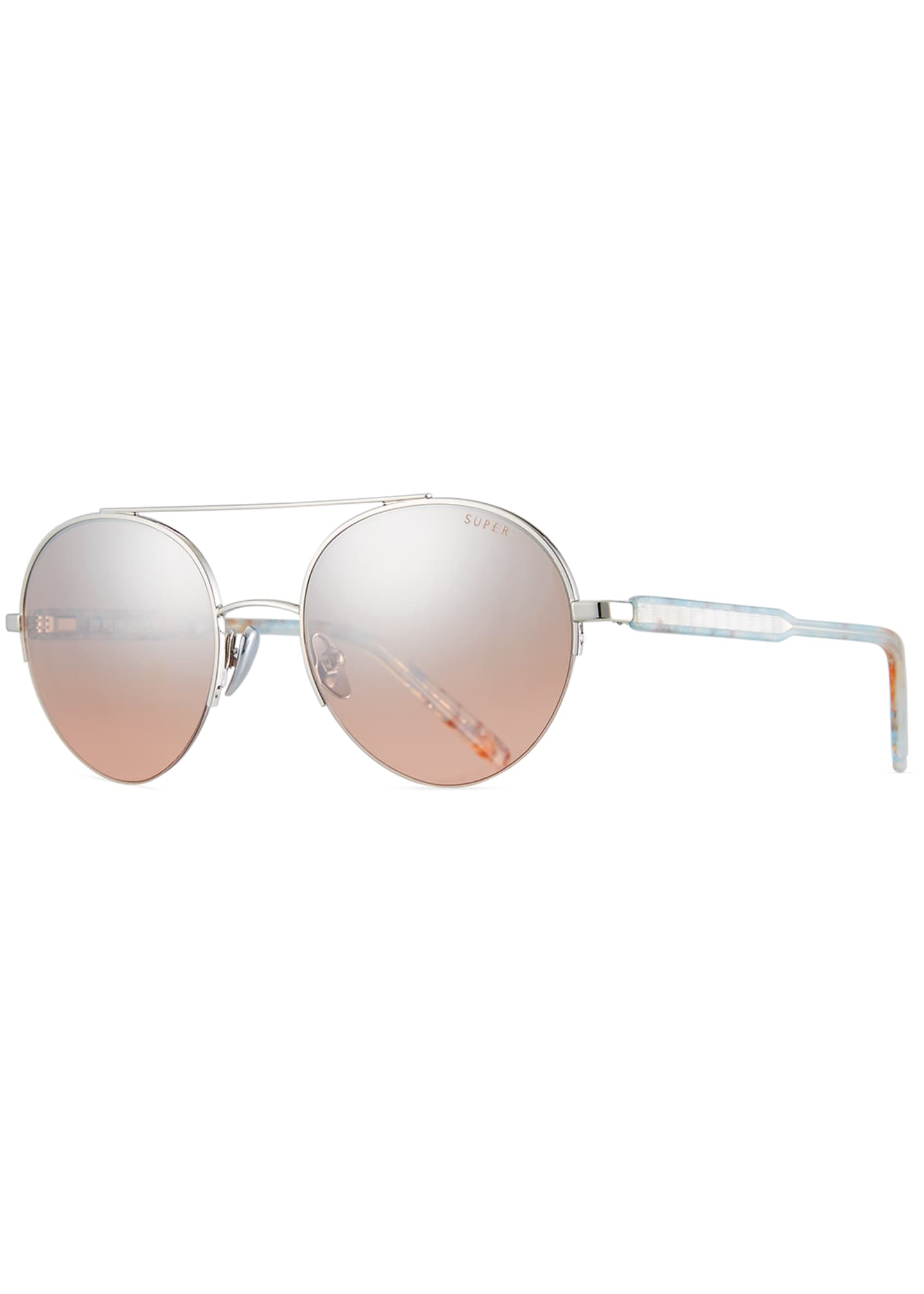 Super by Retrosuperfuture Cooper Onice Aviator Sunglasses