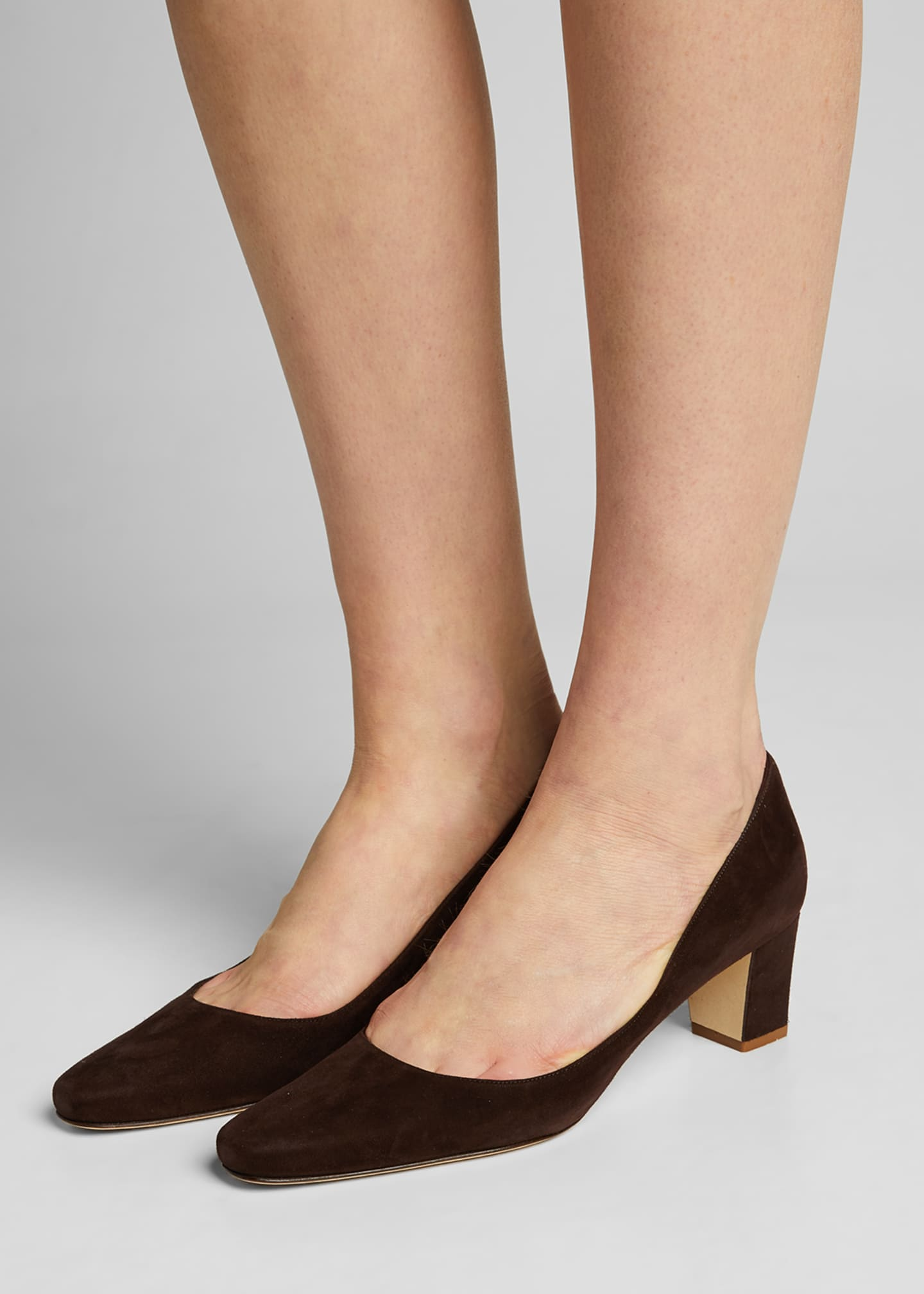 Image 2 of 5: Okkatopla Suede Block-Heel Pump