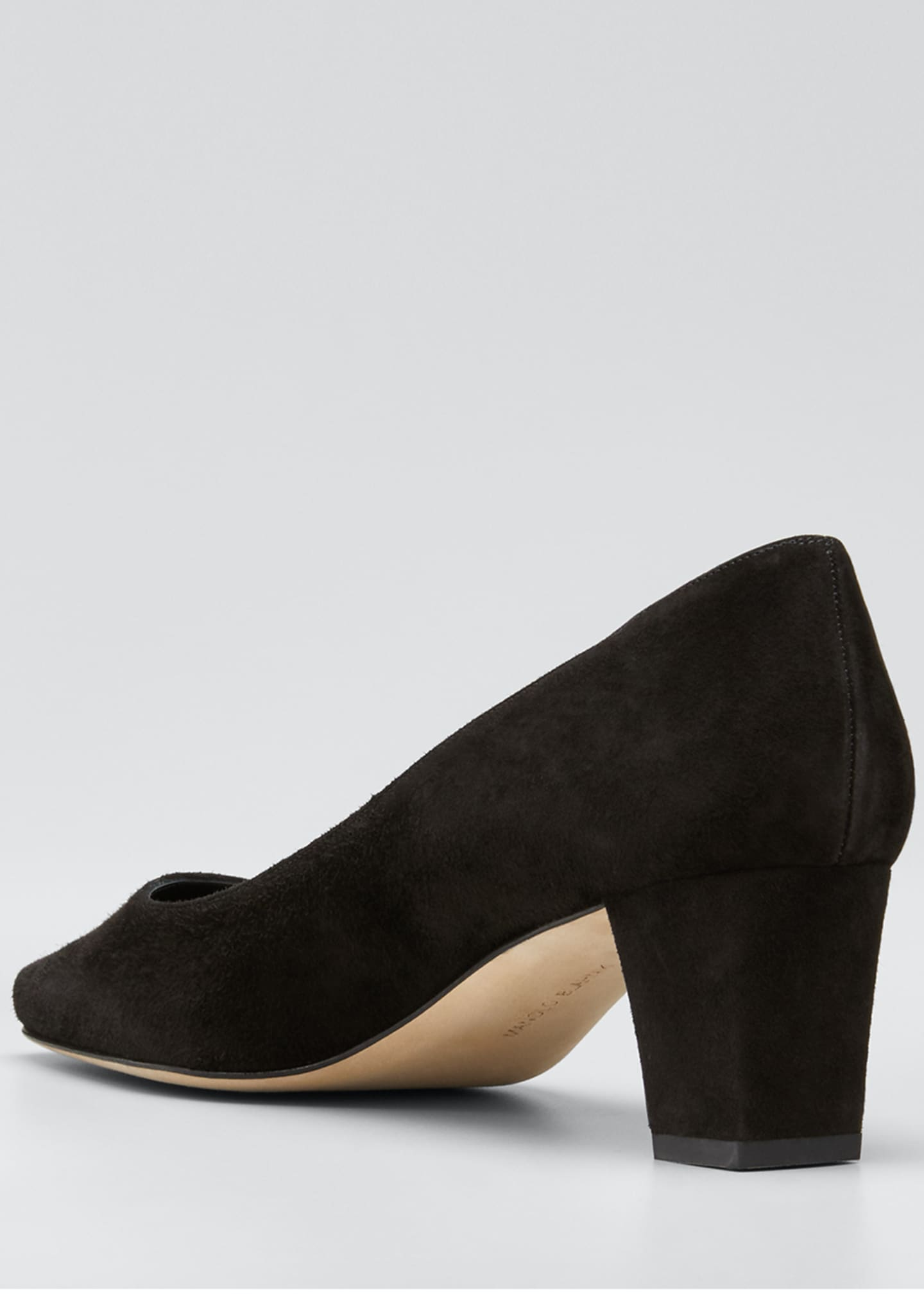 Image 4 of 5: Okkatopla Suede Block-Heel Pump