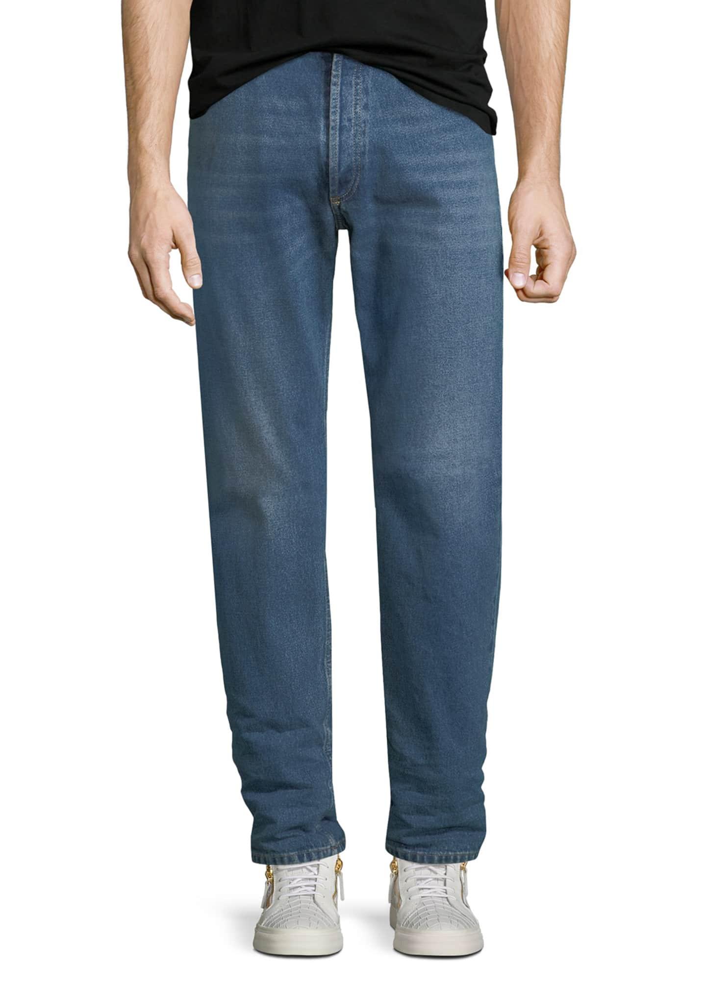 Balenciaga Straight-Leg Denim Jeans