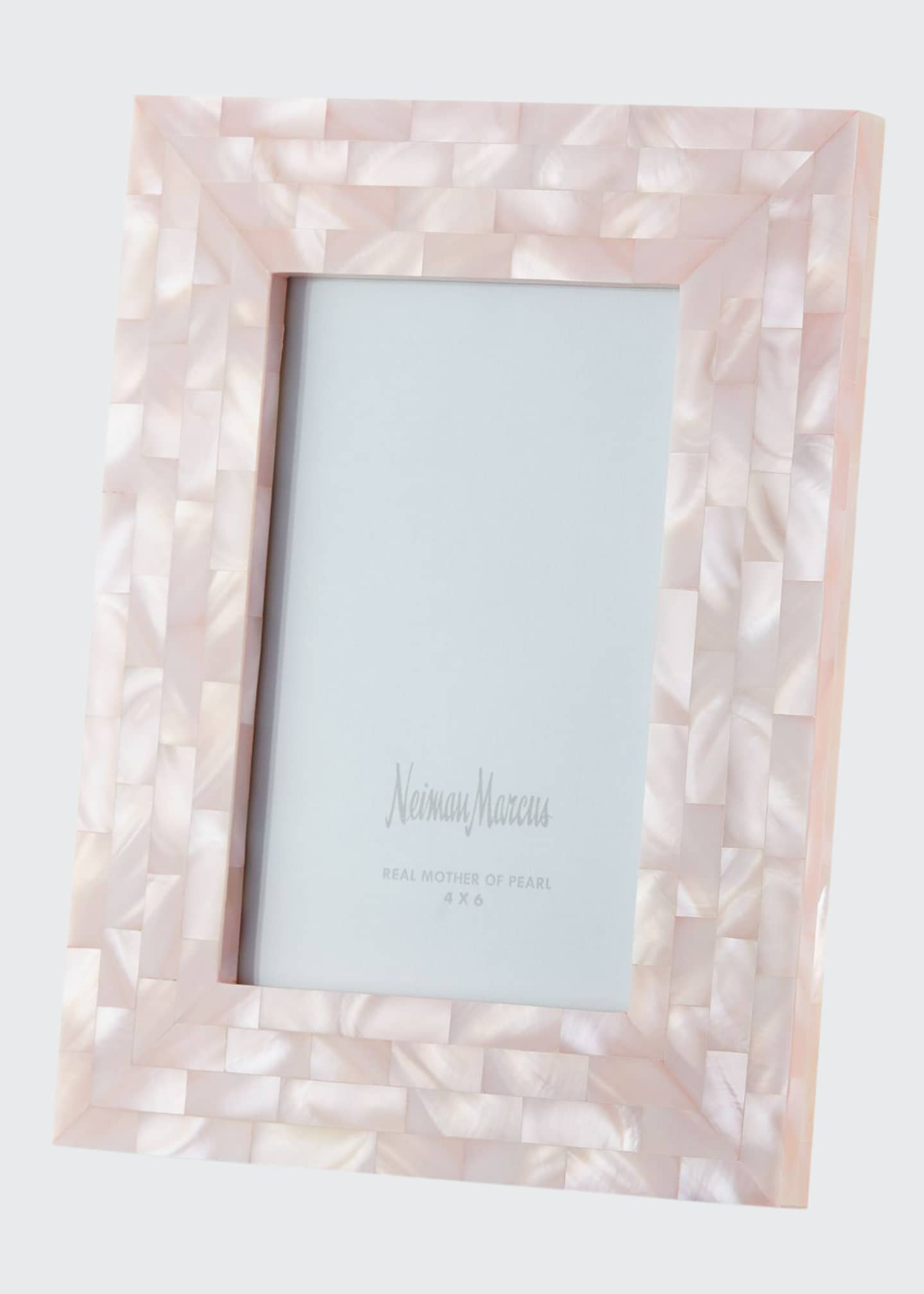 The Jws Collections Mother-of-Pearl Picture Frame, Pink, 4
