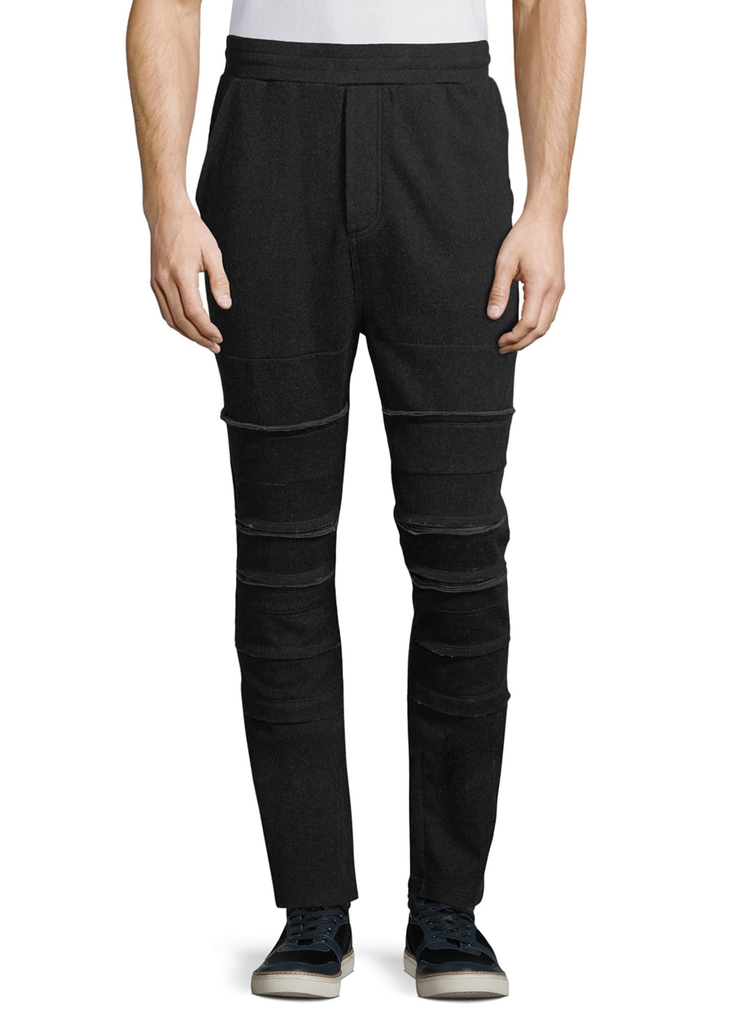 Private Stock Raw-Edge Paneled Jogger Pants