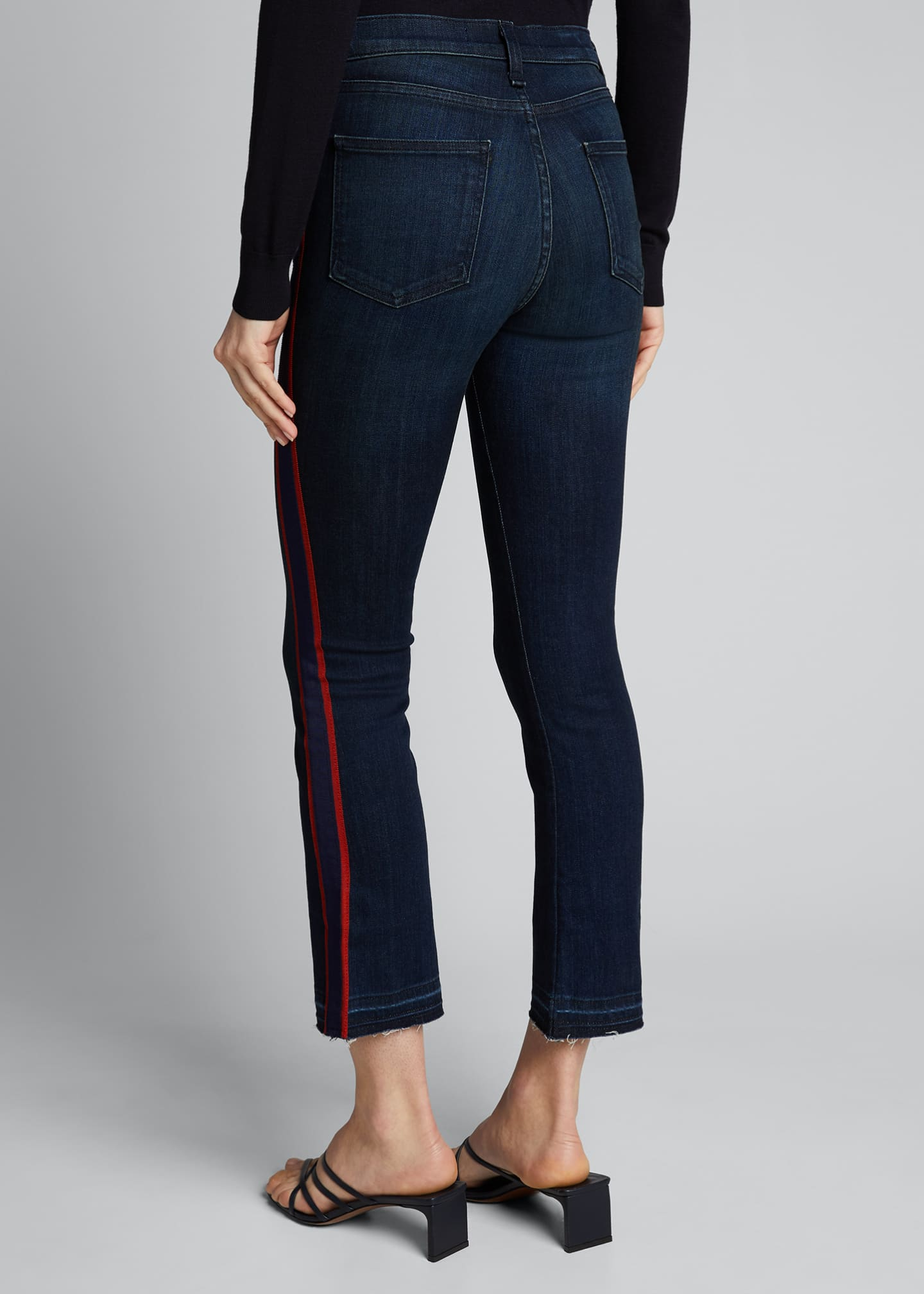 Image 2 of 5: Carolyn Baby Boot Cropped Jeans w/ Tux Stripes