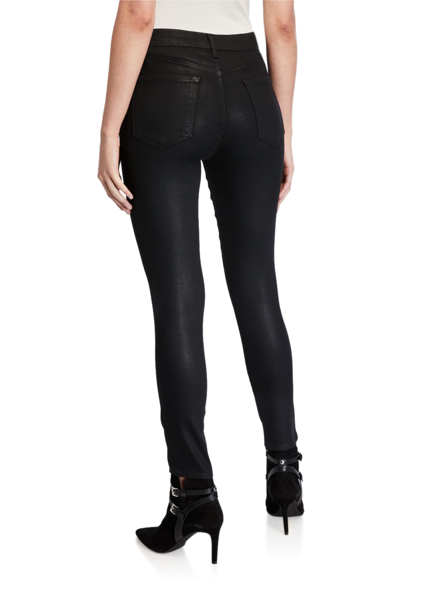 Image 2 of 3: Alana High-Rise Cropped Coated Skinny Pants