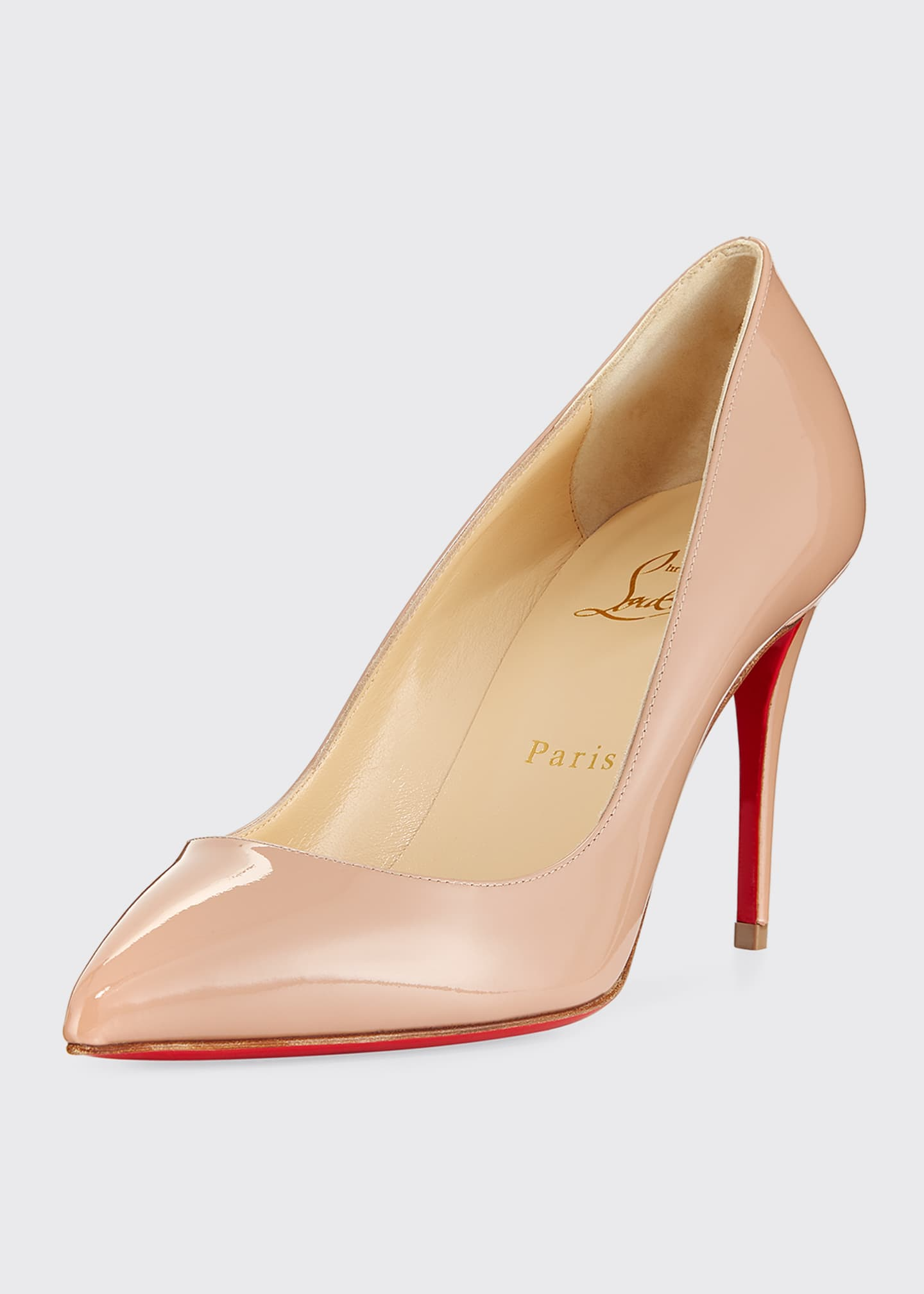 Image 1 of 3: Pigalle Follies 85mm Patent Red Sole Pumps