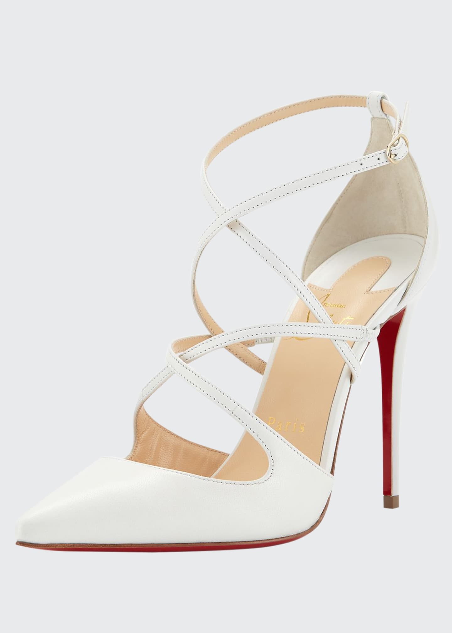 Christian Louboutin Cross Fliketa Strappy Red Sole Pump