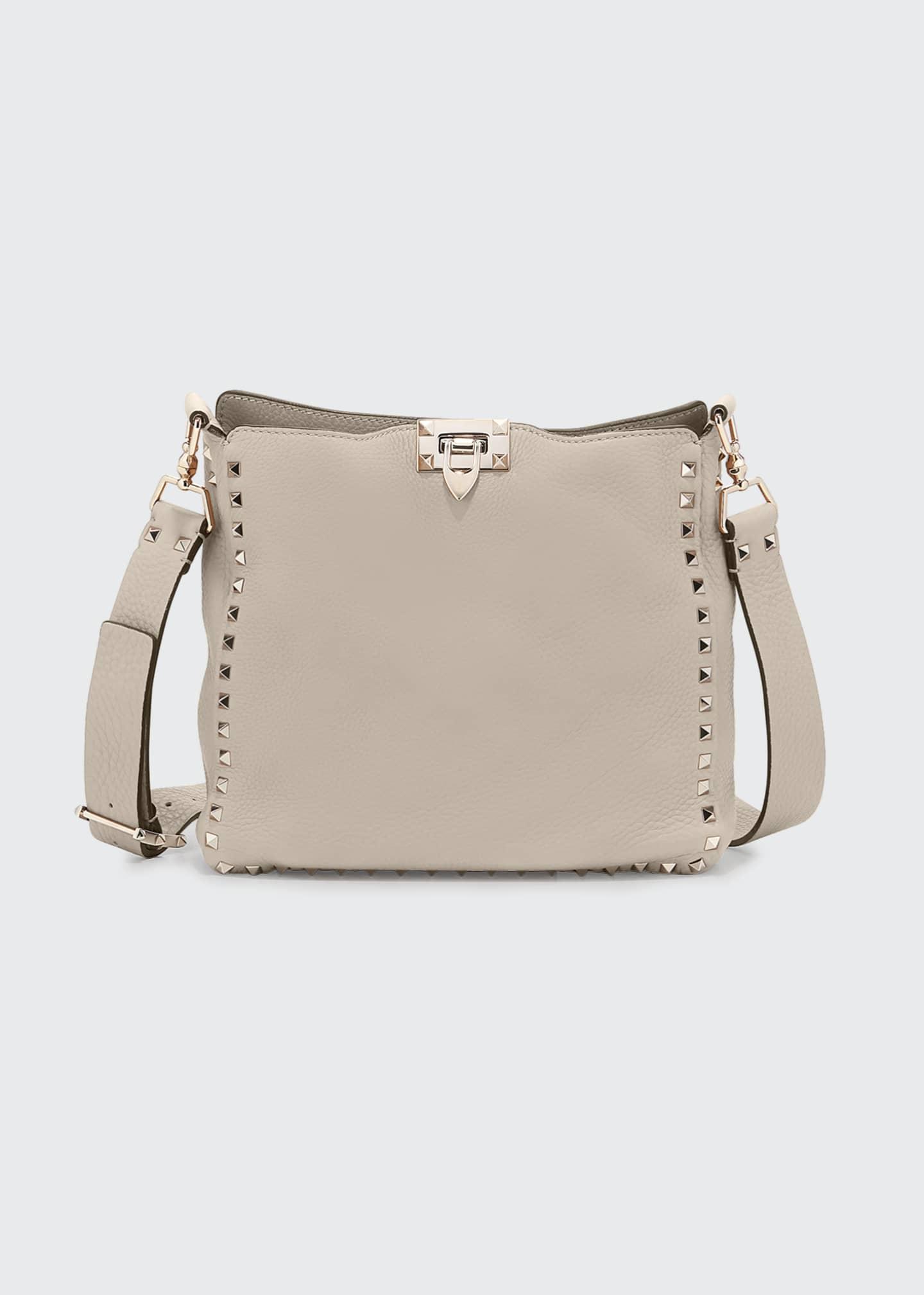 Valentino Garavani Rockstud Small Leather Hobo Bag