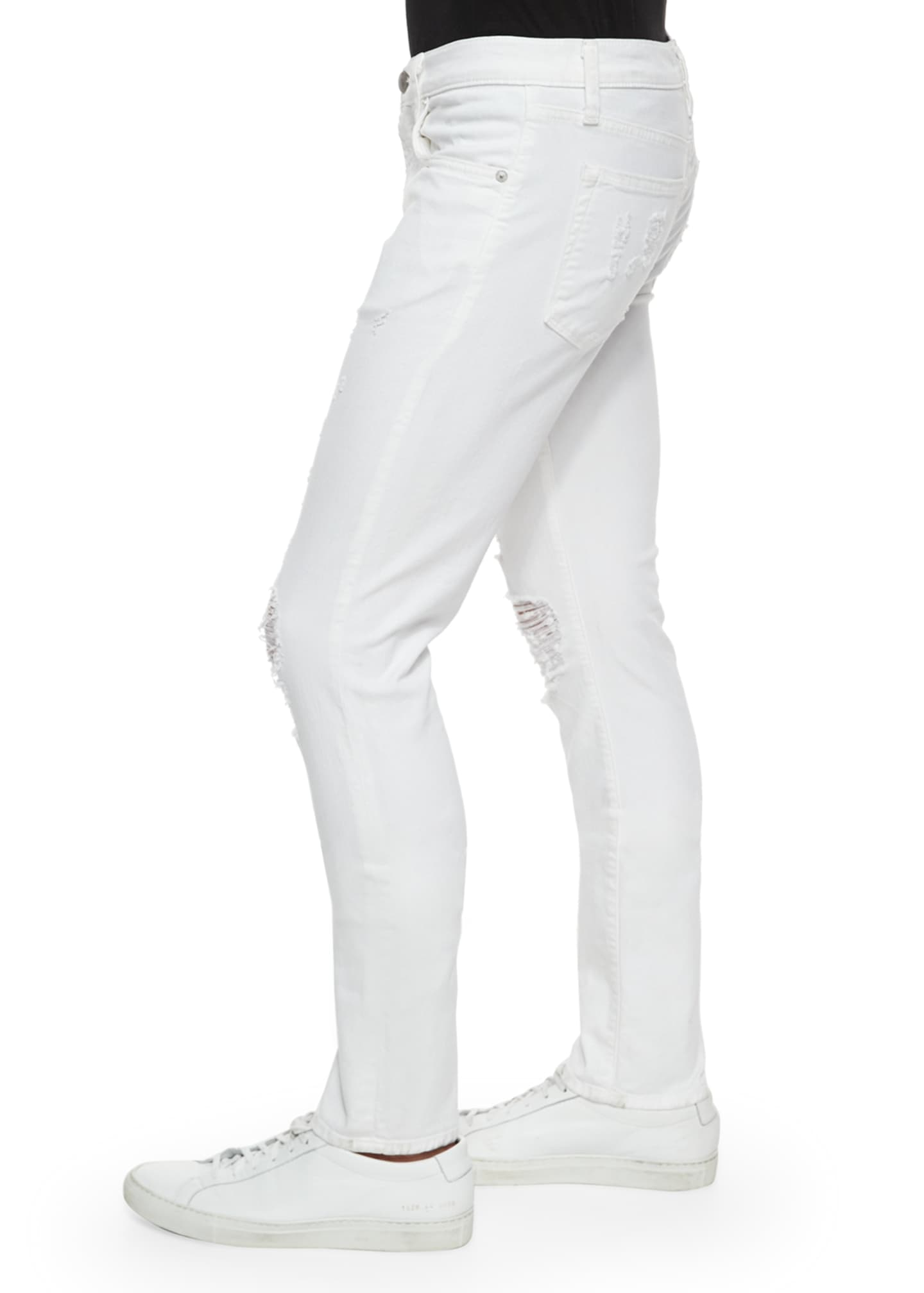 Image 3 of 5: Tyler Deconstructed Slim Jeans, White