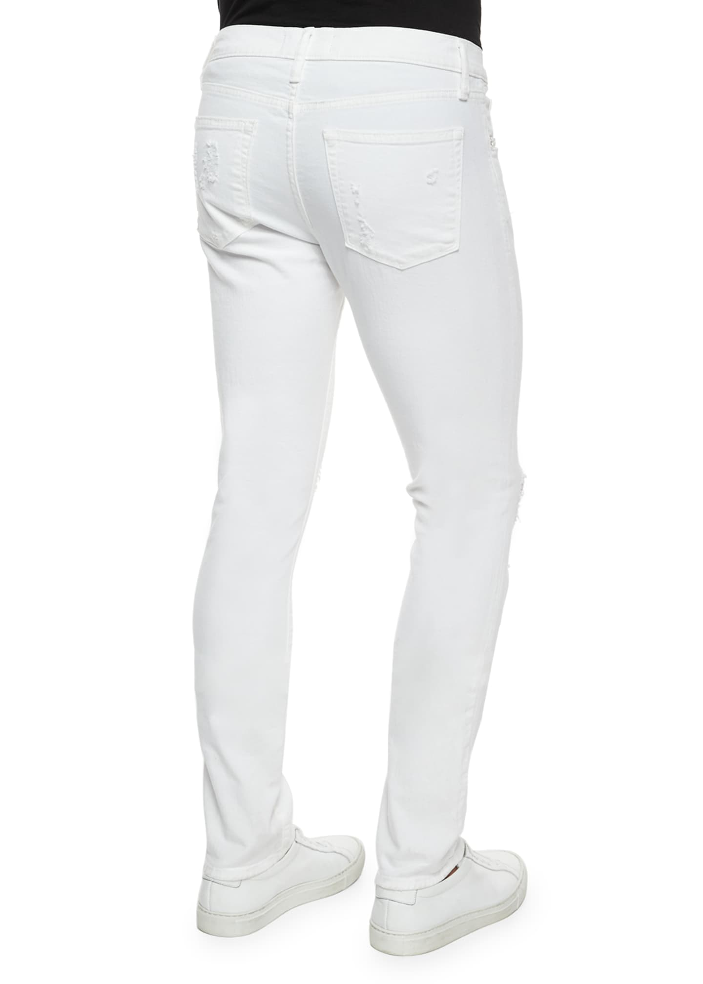 Image 5 of 5: Tyler Deconstructed Slim Jeans, White