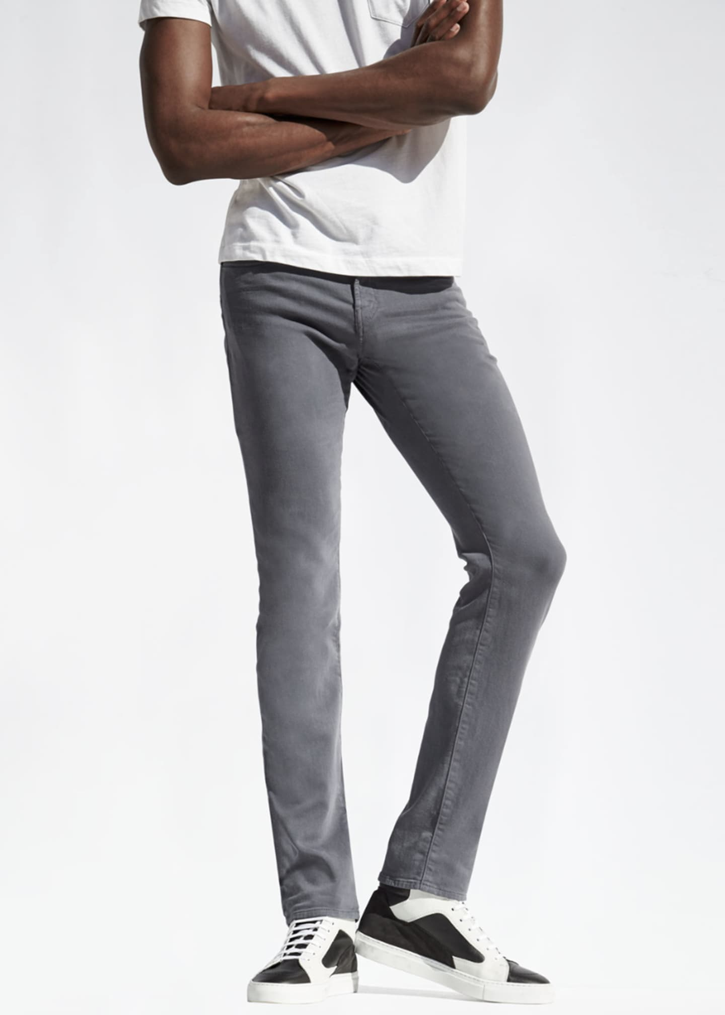 Image 4 of 4: Kane Slim-Fit Luxe Terry Jeans