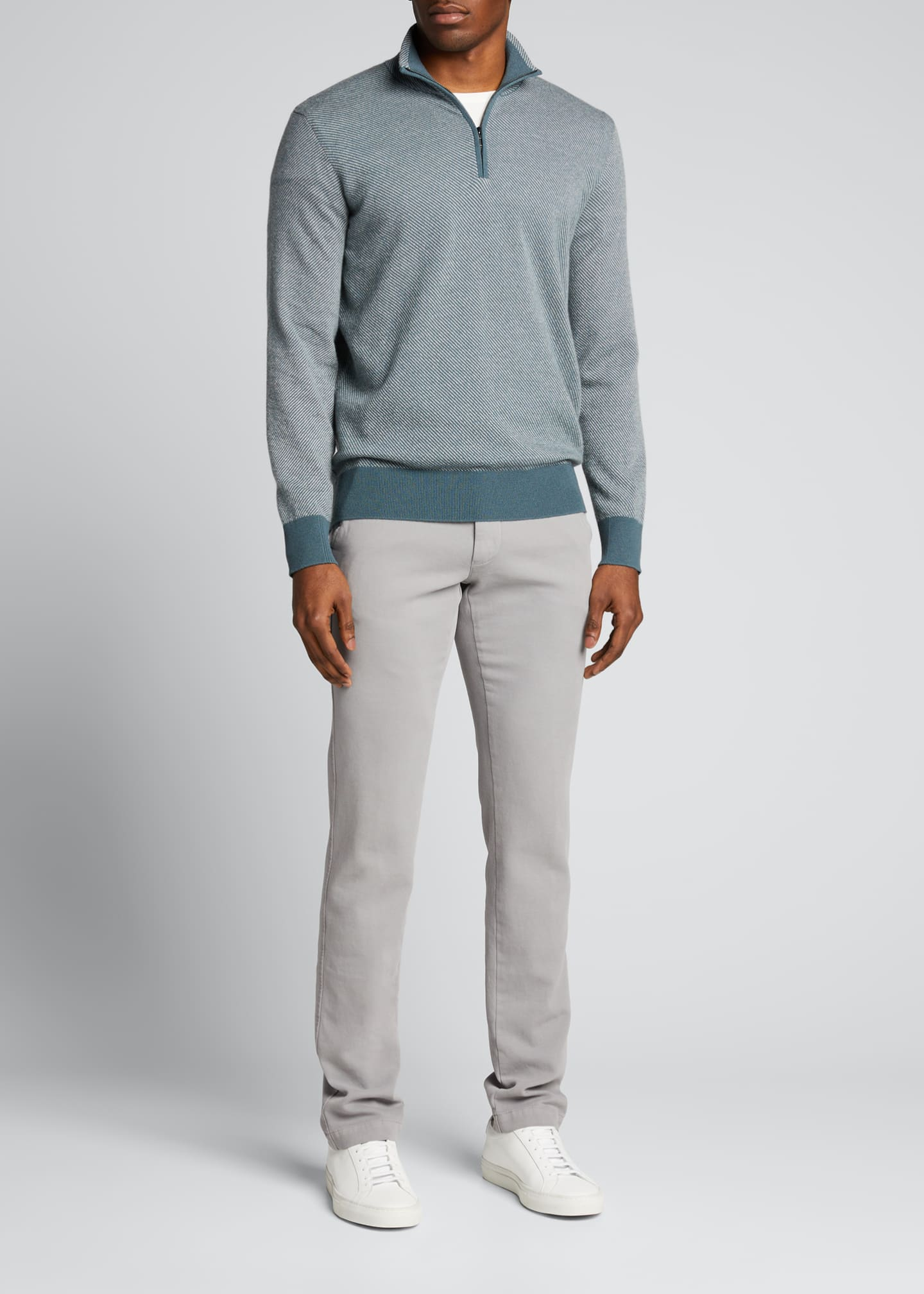 Image 1 of 2: Men's Roadster 1/4-Zip Cashmere Sweater