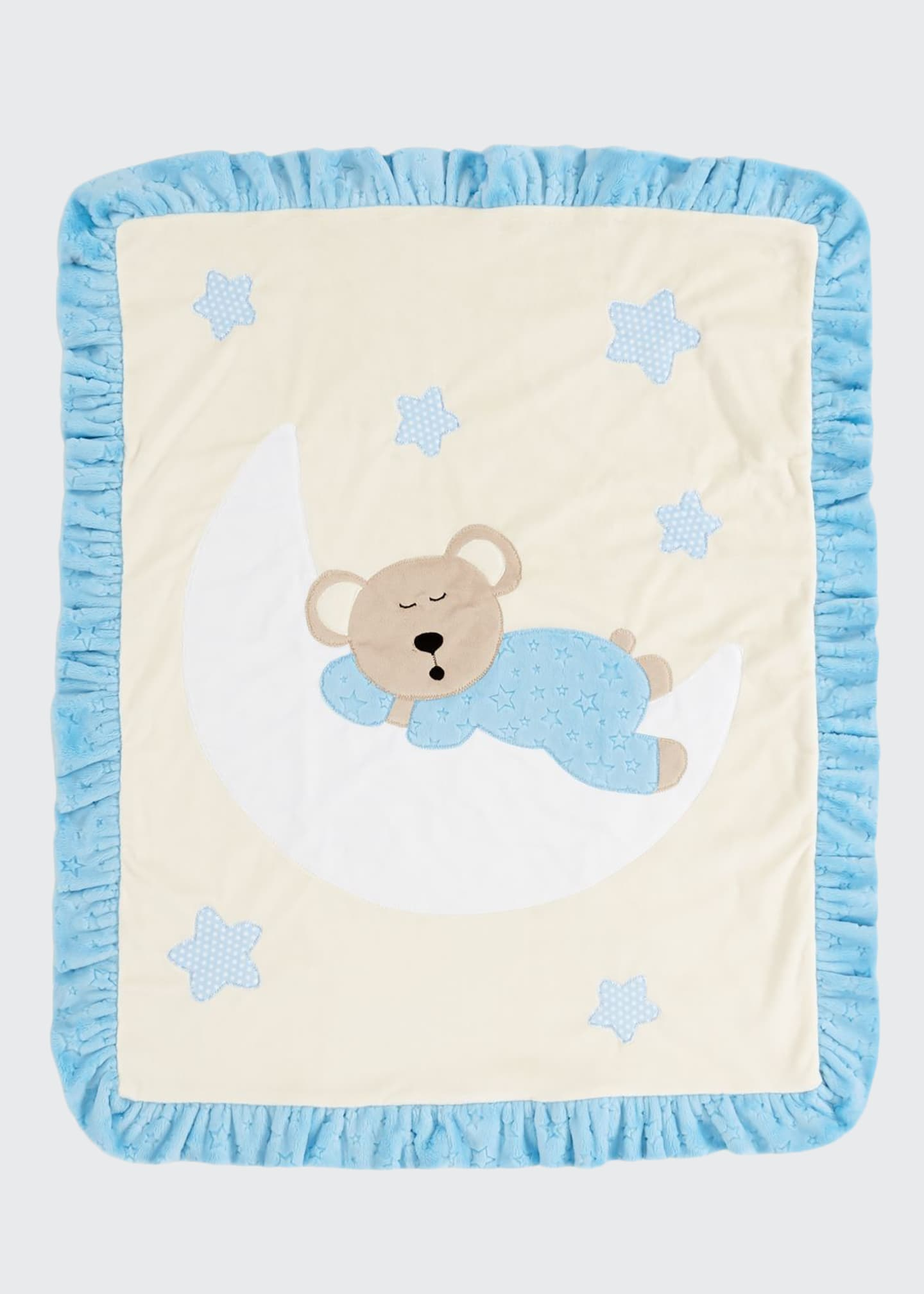 Image 1 of 1: Goodnight Teddy Baby Blanket, Blue