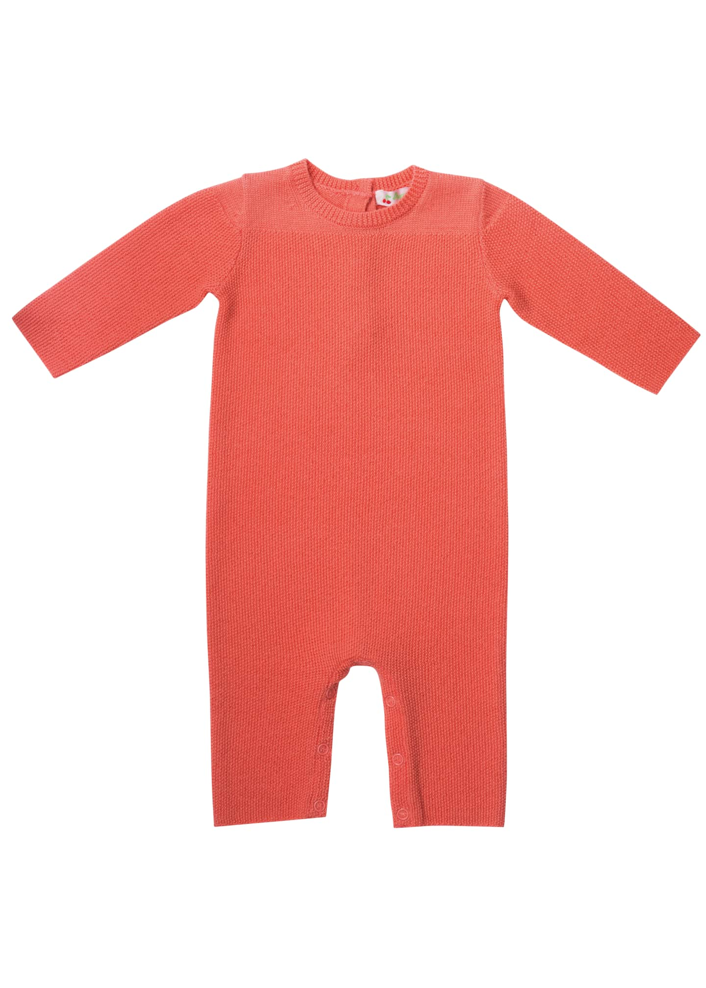Image 1 of 2: Knit Cotton Coverall, Size 1-12 Months