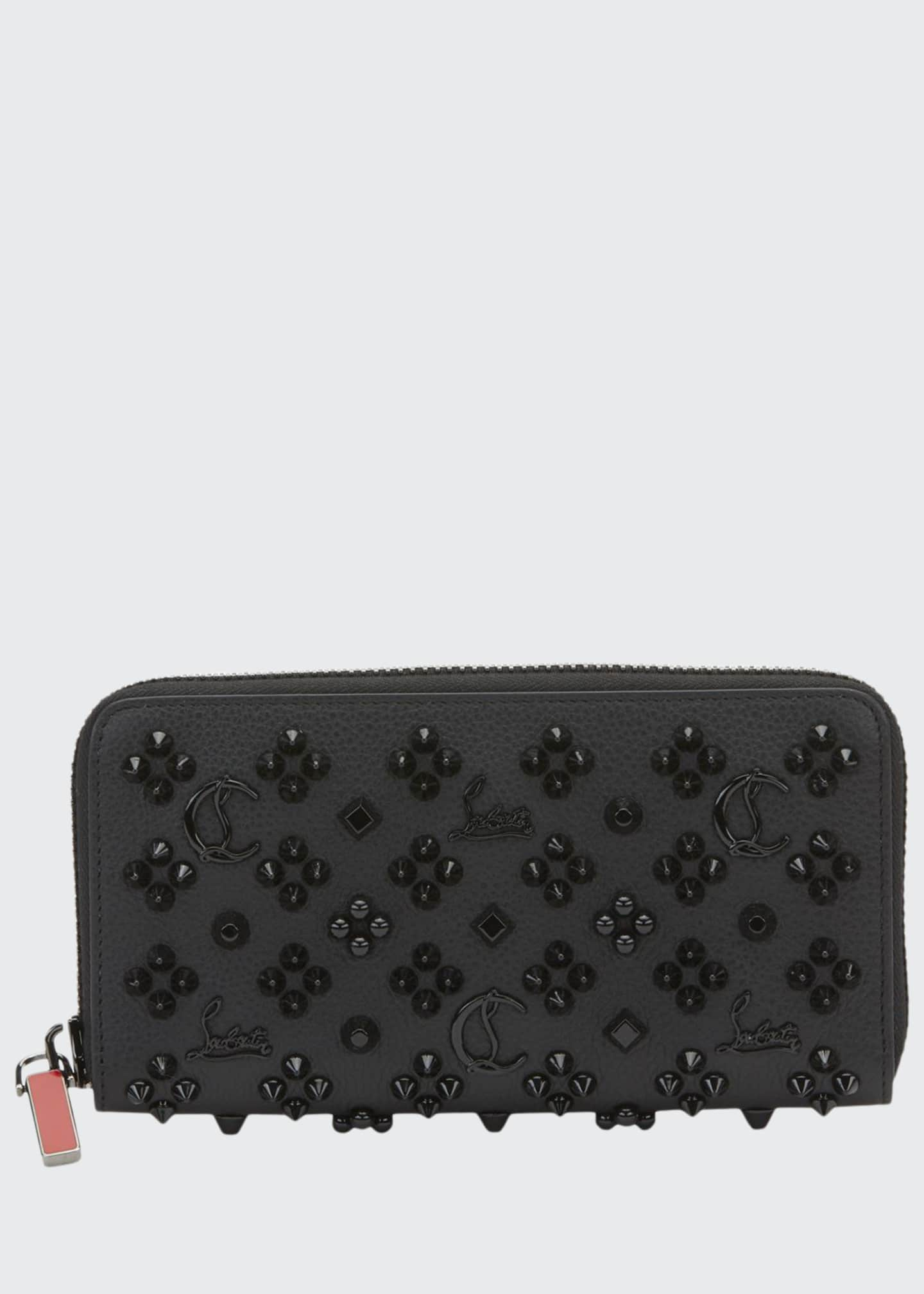 Christian Louboutin Men's Panettone Embellished Leather Wallet