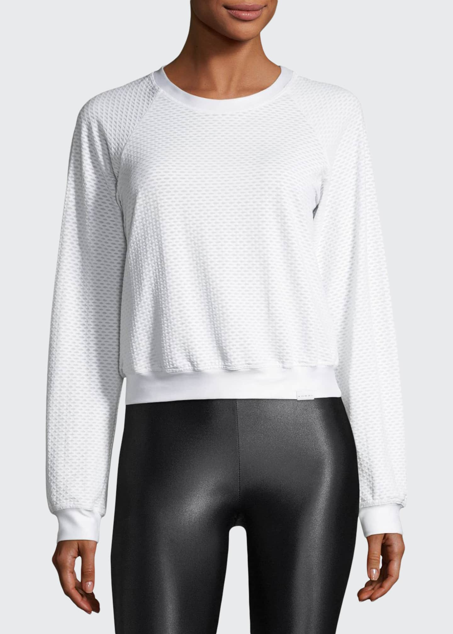 Koral Sofia Crewneck Long-Sleeve Pullover Top