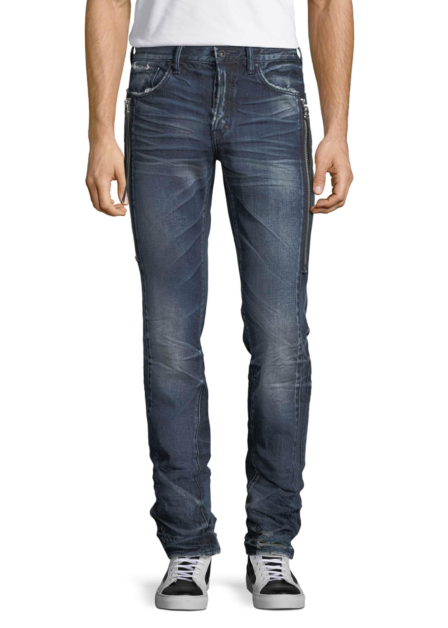 PRPS Le Sabre Side-Zip Tapered Jeans