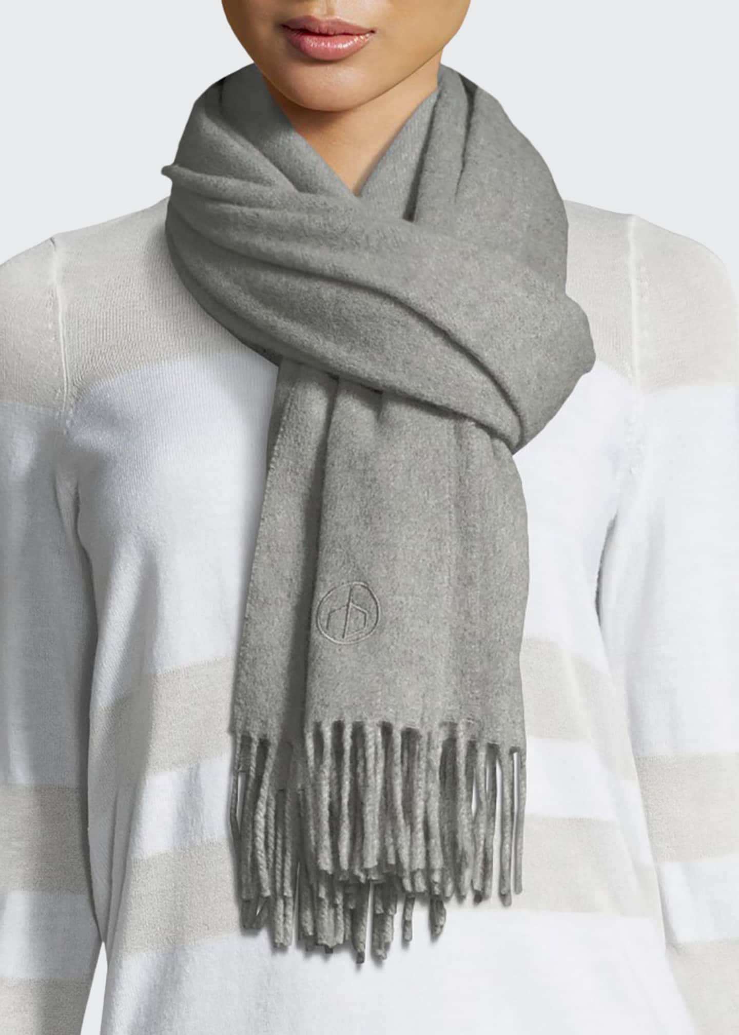 Image 1 of 2: Classic Cashmere Scarf w/ Fringed Edges