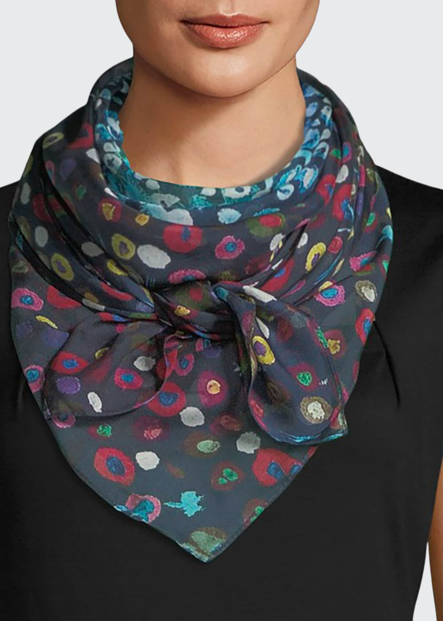 Mila & Such Hide Silk Dandelion Square Scarf,