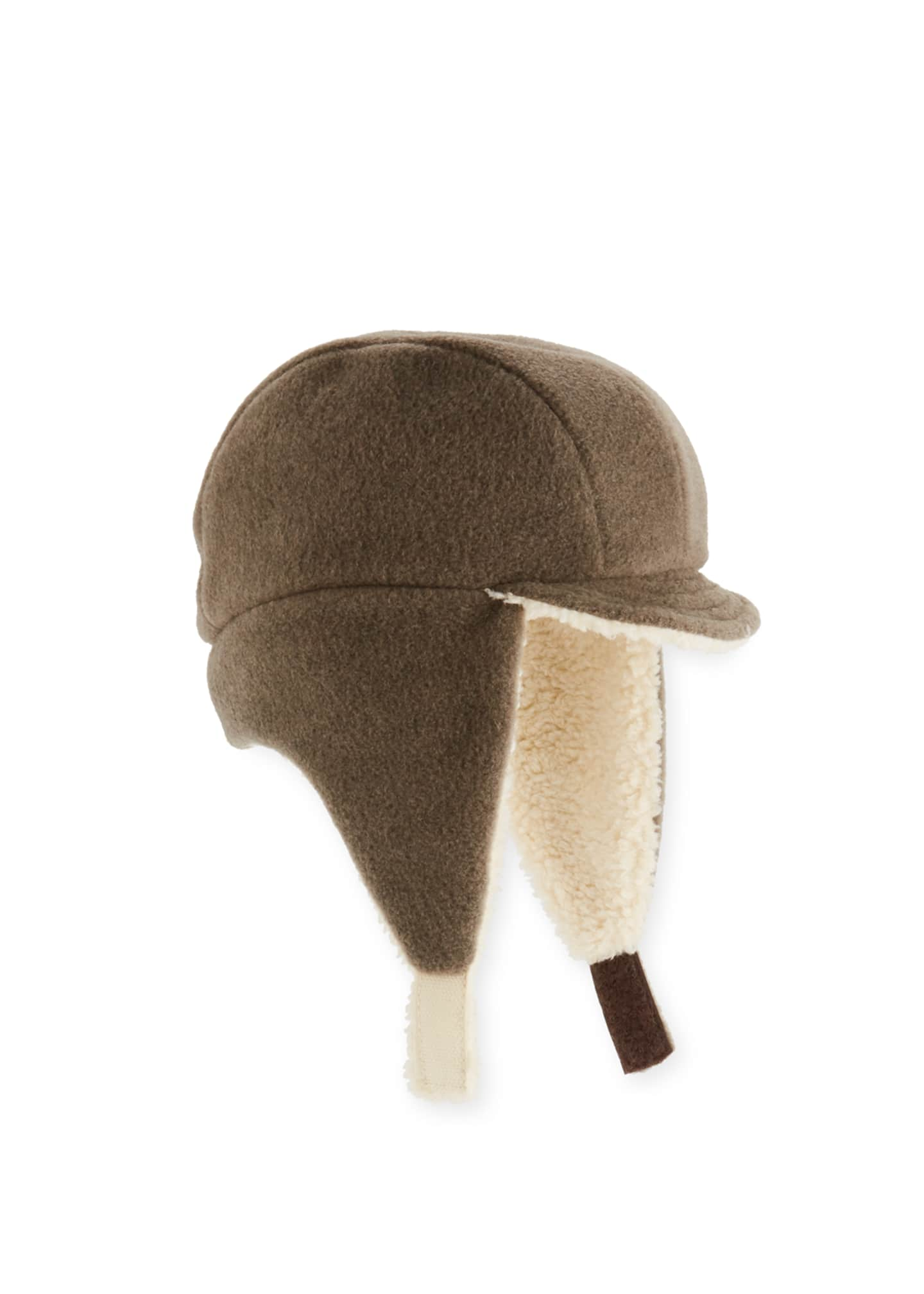 Grevi Kids' Faux-Shearling Flap Trapper Hat
