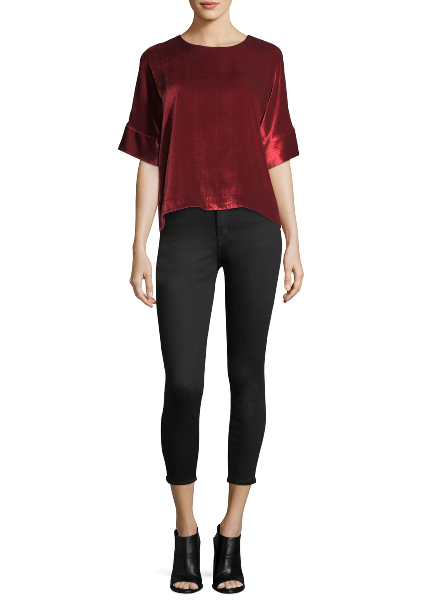 Image 3 of 3: Alana Photo-Ready High-Rise Super Skinny Crop Jeans