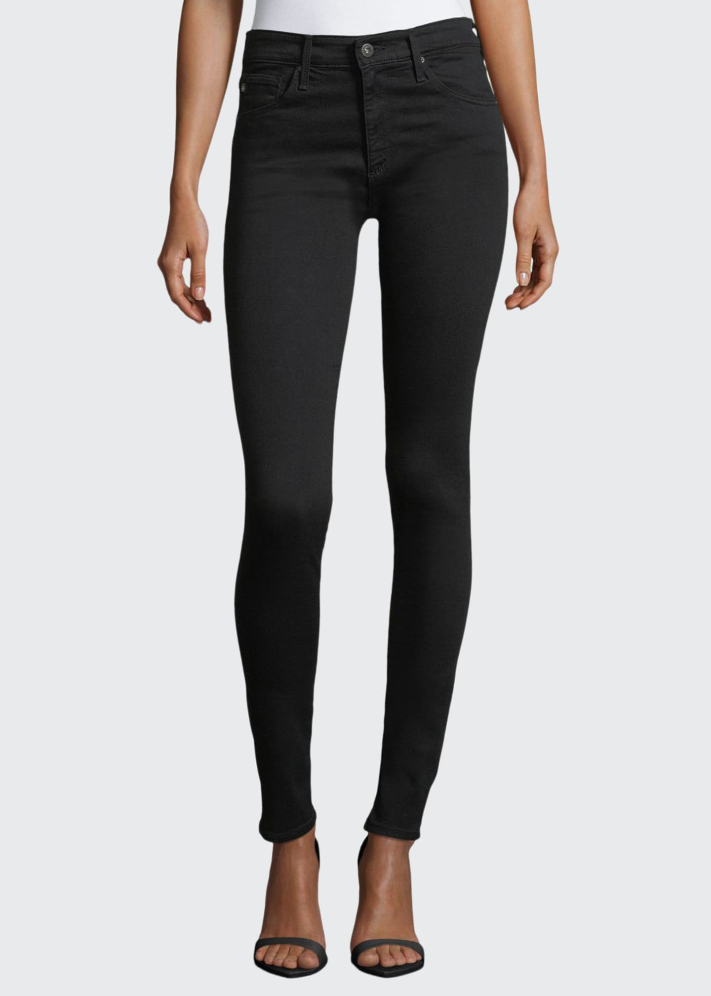 AG Farrah High-Waist Stretch-Denim Skinny Jeans