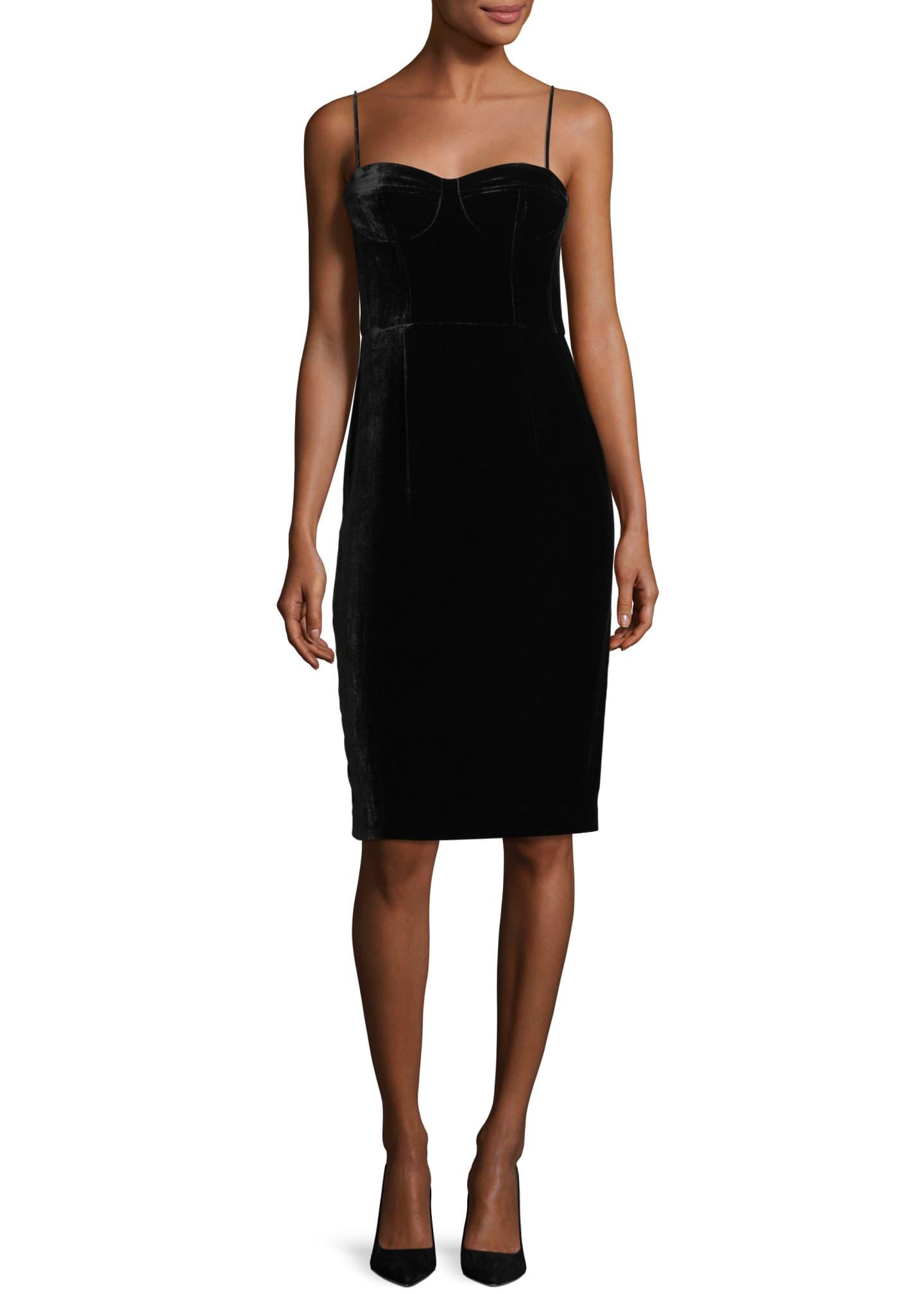 Theory Corset Luxe Velvet Sheath Dress