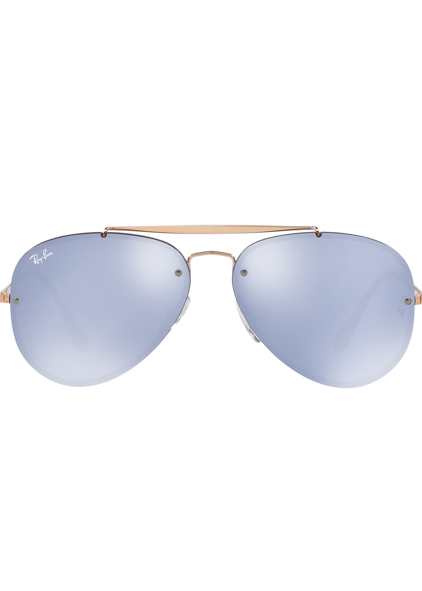 Image 2 of 3: Brow Bar Aviator Sunglasses