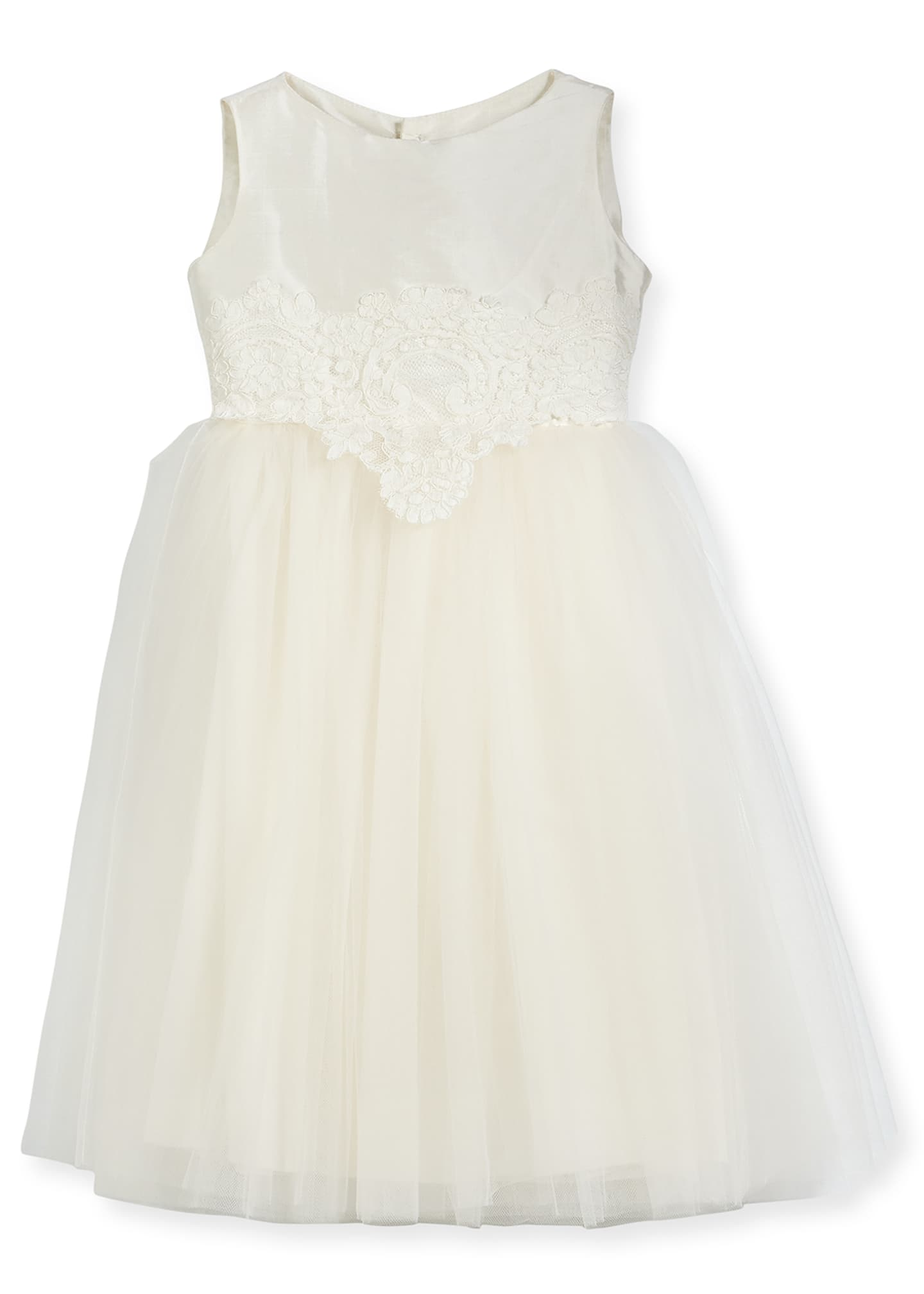 Isabel Garreton Enchanting Lace-Trim Silk & Tulle Dress,